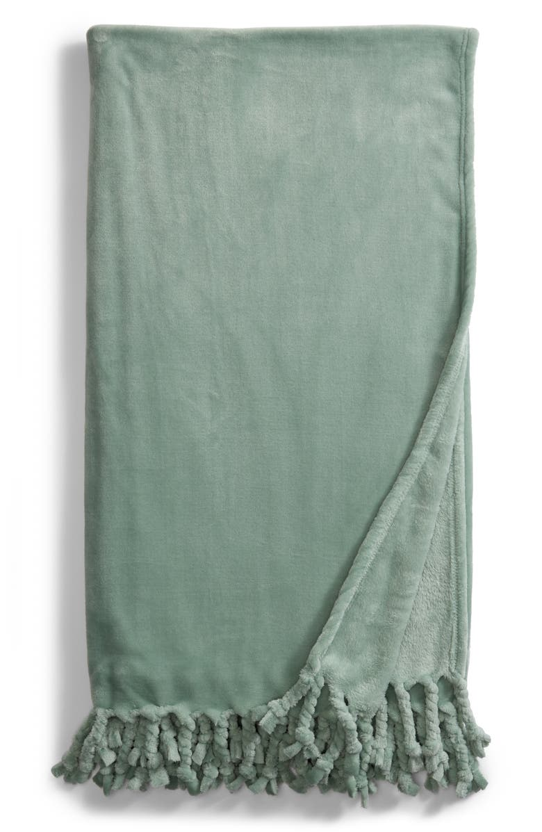 Kennebunk Bliss Plush Throw,                         Main,                         color, Green Smoke