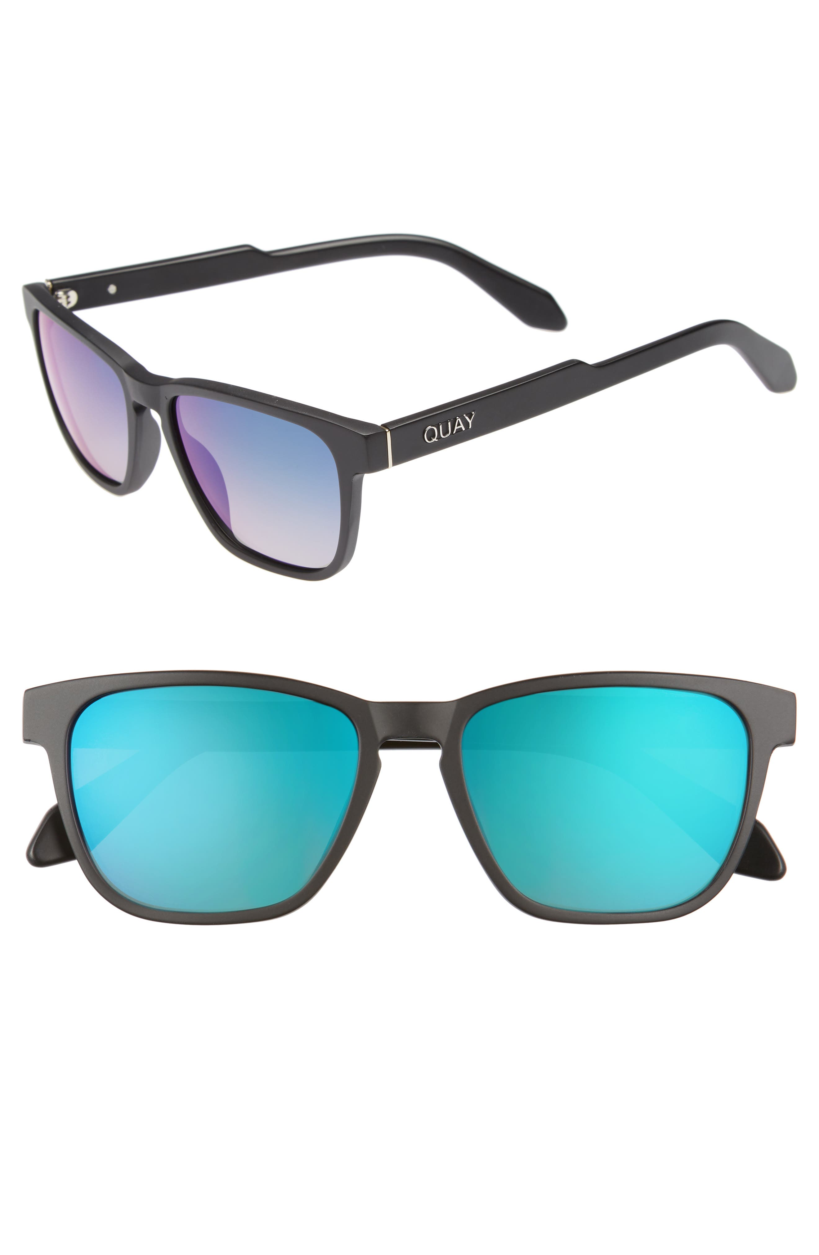 Hardwire 54mm Polarized Sunglasses,                         Main,                         color, Black / Navy Lens