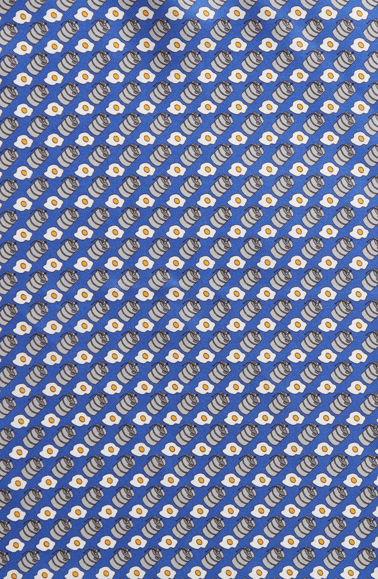 Kegs & Eggs Silk Pocket Square,                             Alternate thumbnail 3, color,                             Blue