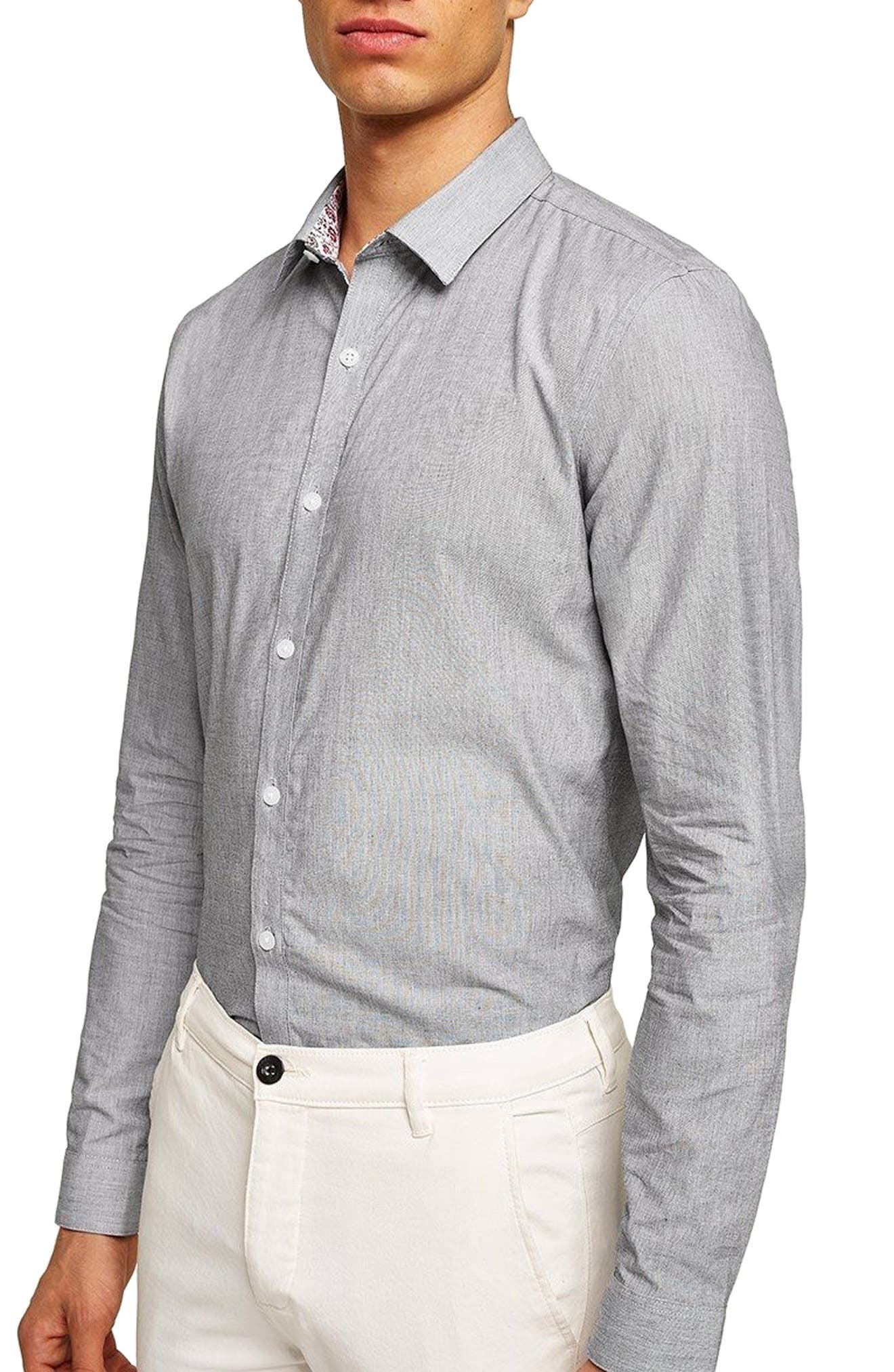 End on End Sport Shirt,                         Main,                         color, Grey Multi