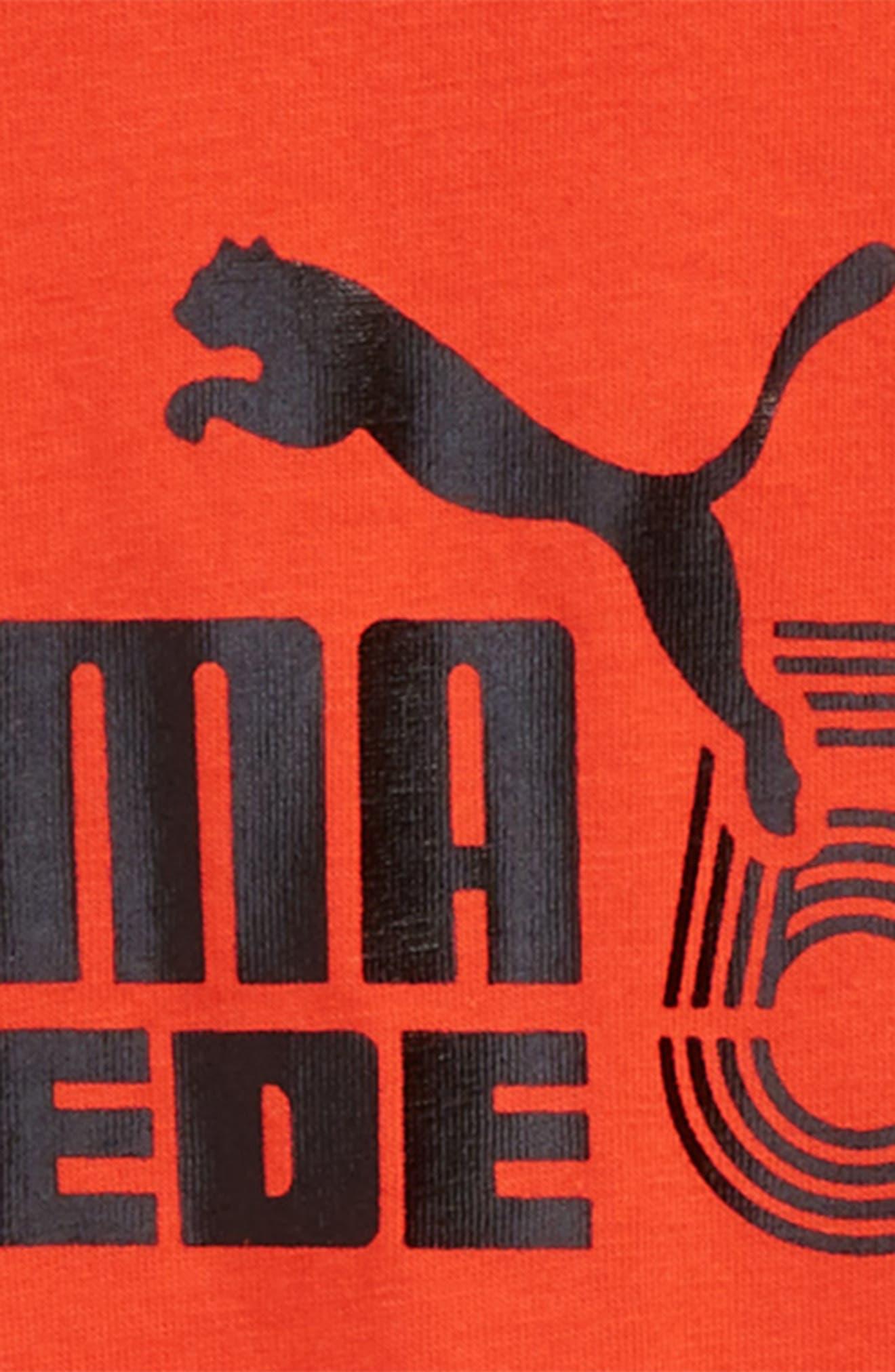 Logo Graphic T-Shirt,                             Alternate thumbnail 2, color,                             Flame Scarlet