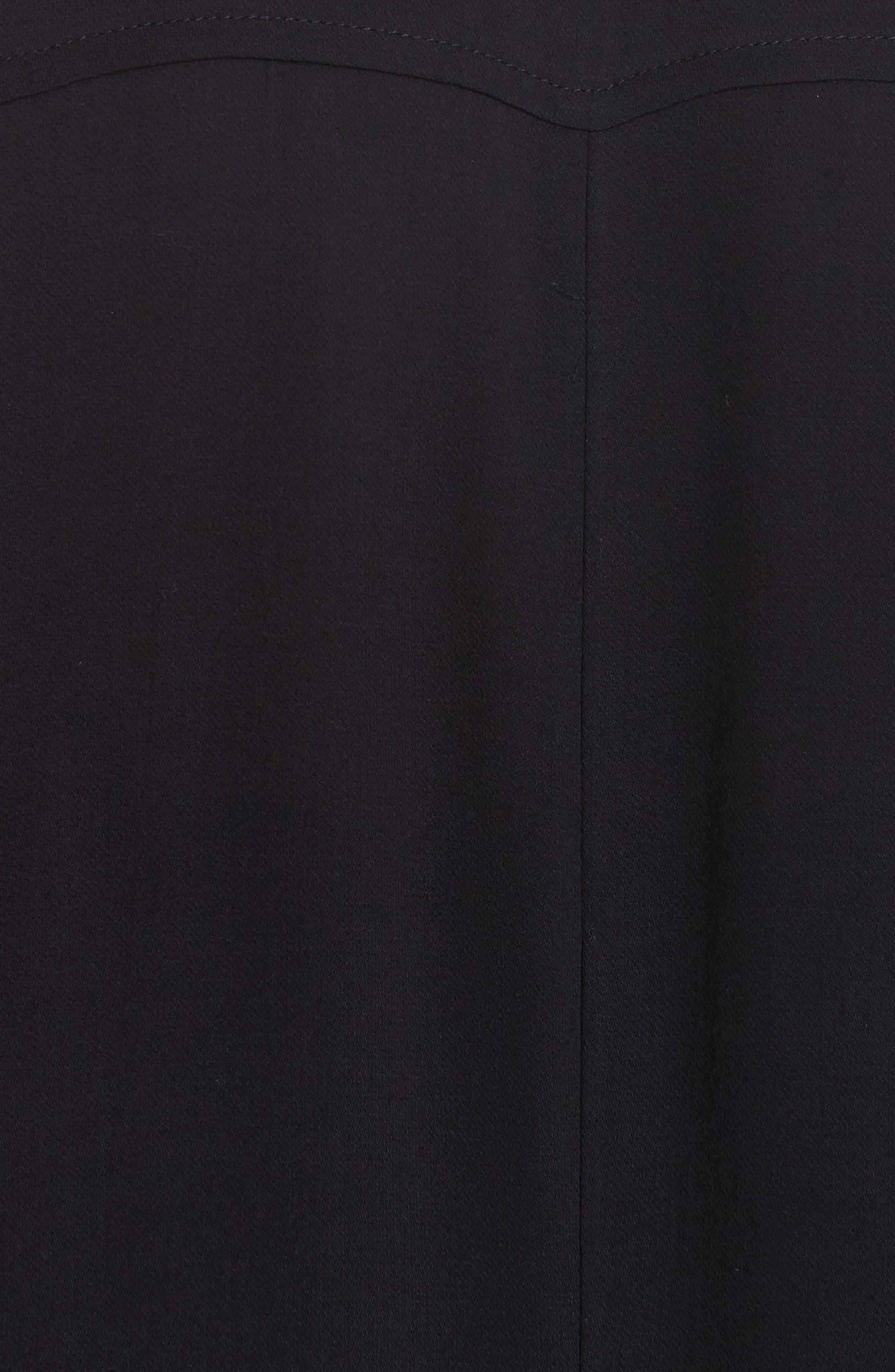 Maxi Shirtdress,                             Alternate thumbnail 6, color,                             Noir