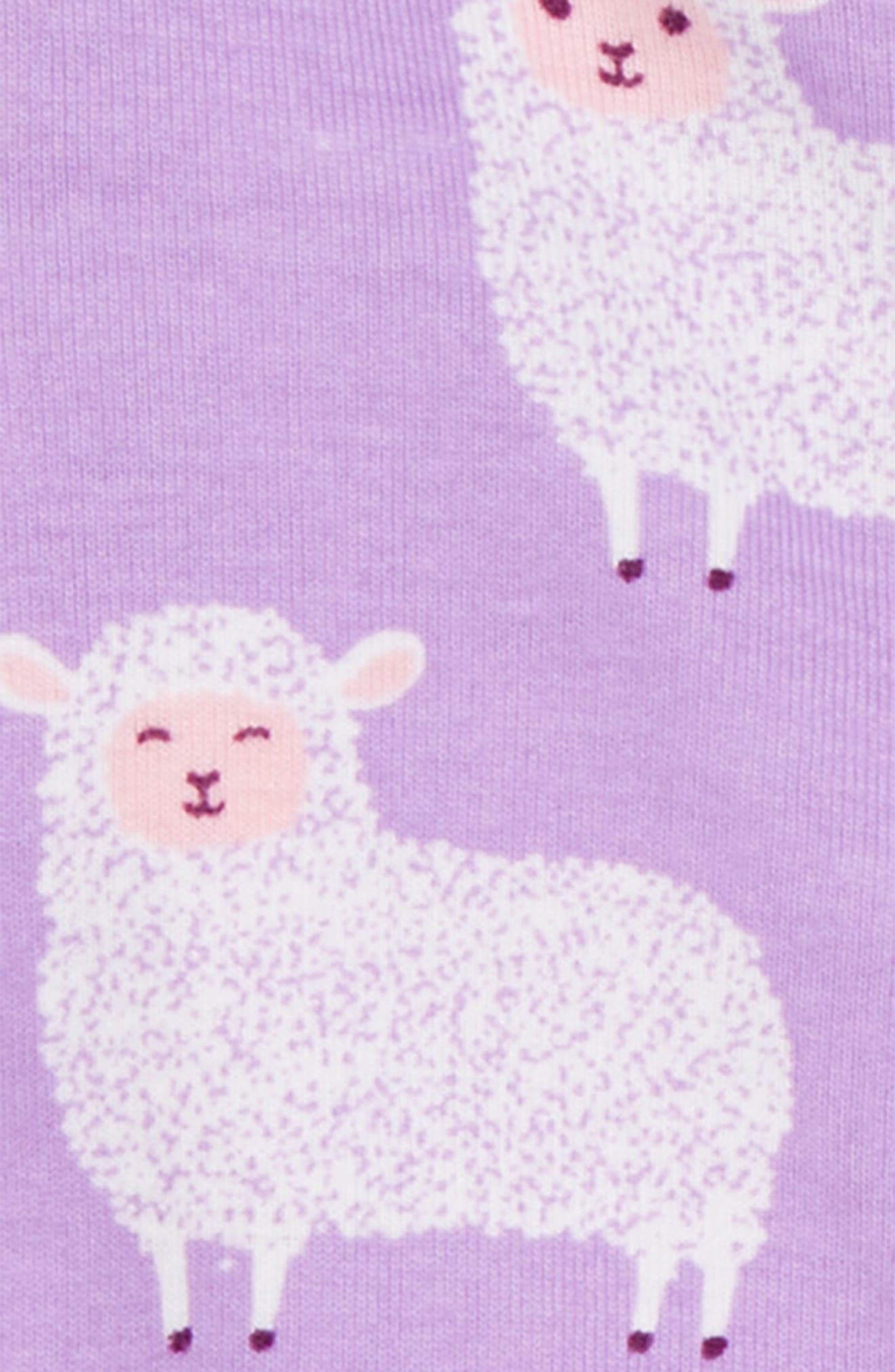 Counting Sheep Fitted One-Piece Pajamas,                             Alternate thumbnail 2, color,                             Counting Sheep