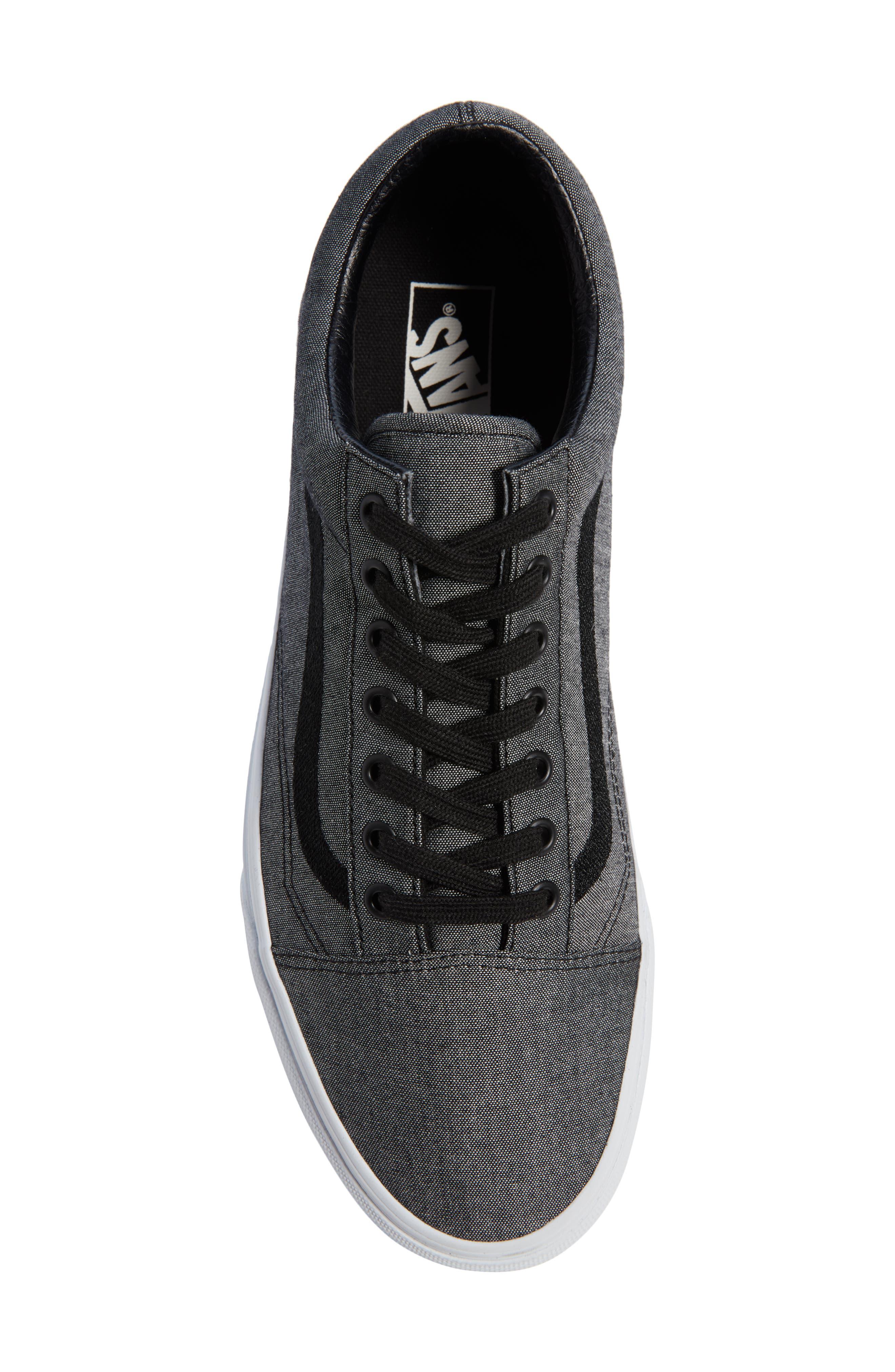 Old Skool Sneaker,                             Alternate thumbnail 5, color,                             Black/ True White/ Grey