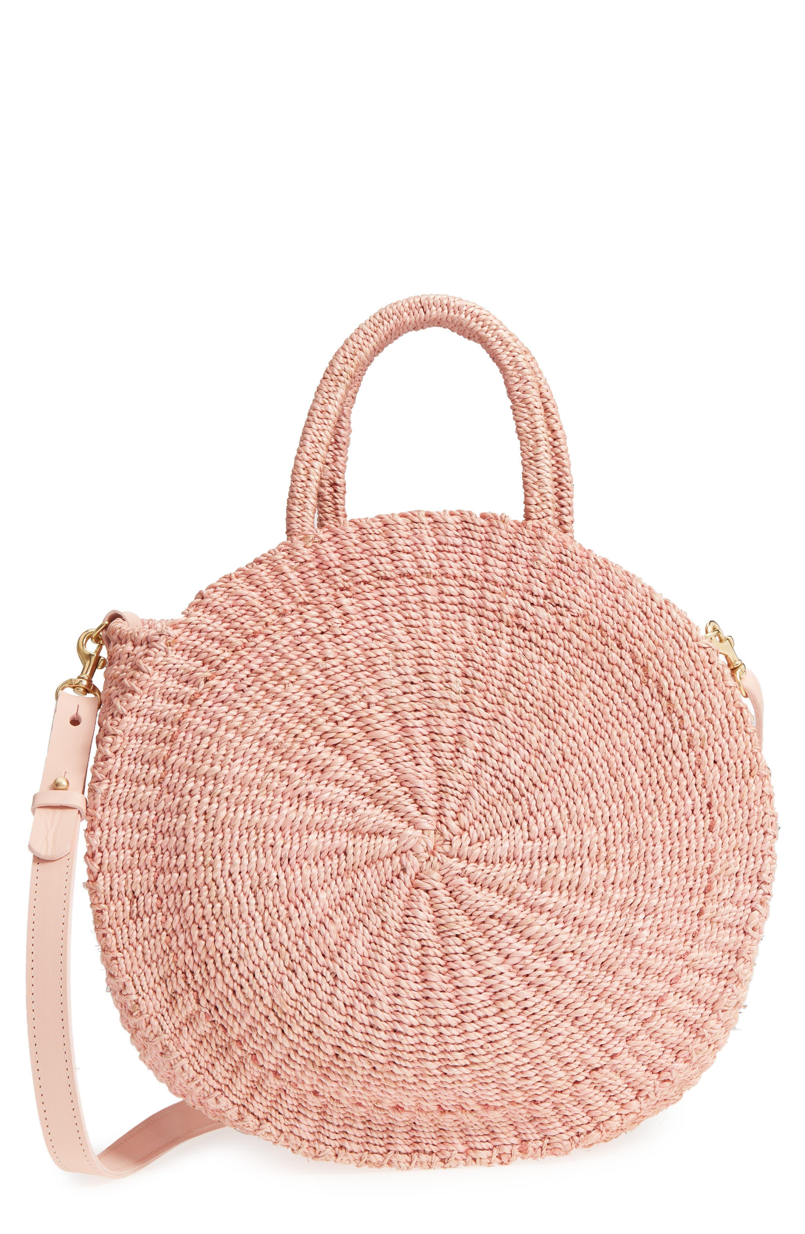 Alice Woven Sisal Straw Bag,                             Main thumbnail 1, color,                             Blush Woven