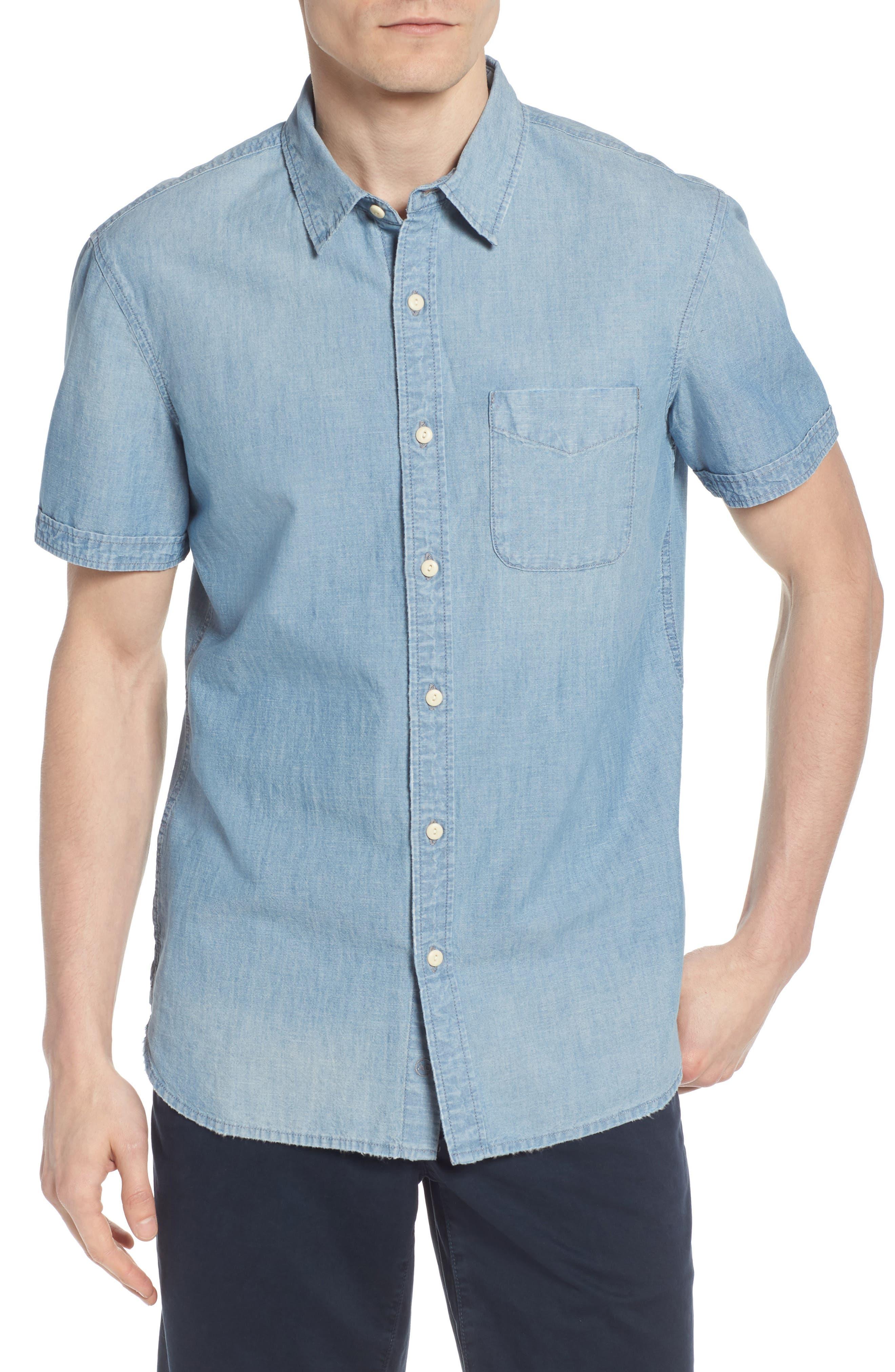 Pearson Regular Fit Short Sleeve Sport Shirt,                         Main,                         color, Foray