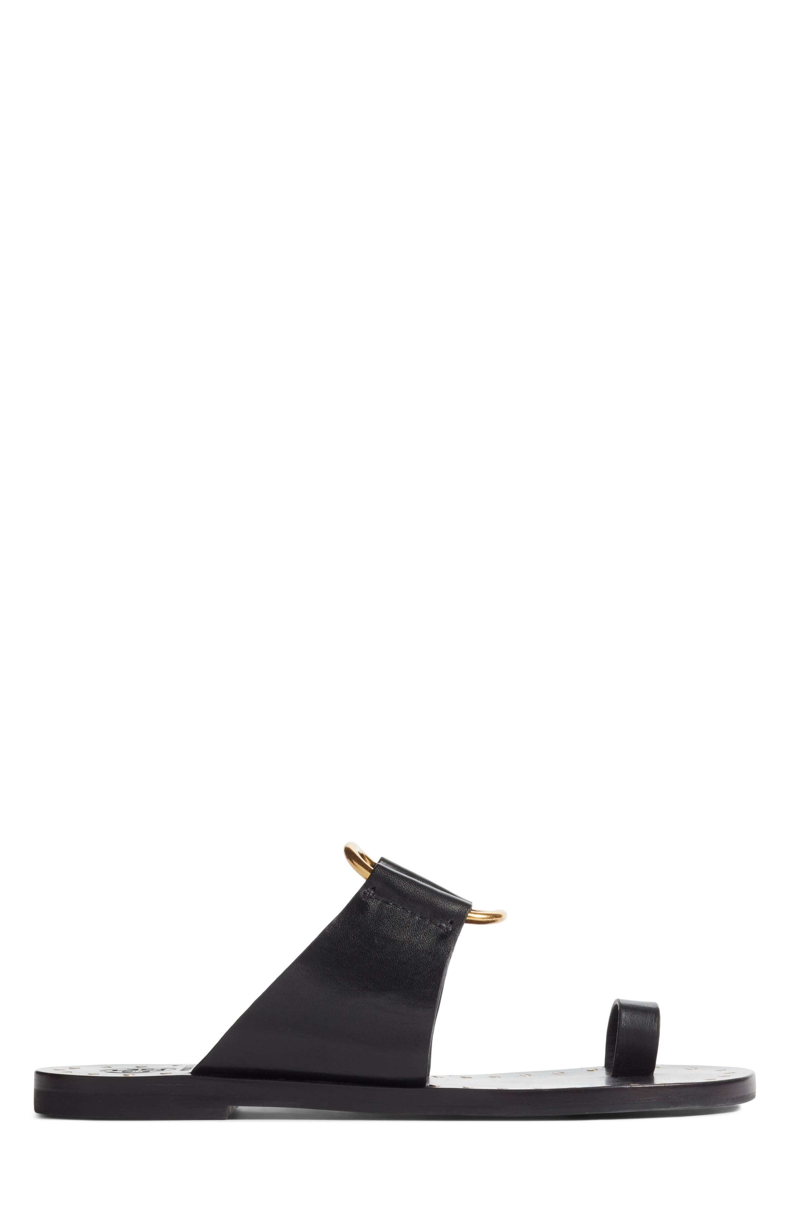 Brannan Studded Sandal,                             Alternate thumbnail 3, color,                             Perfect Black