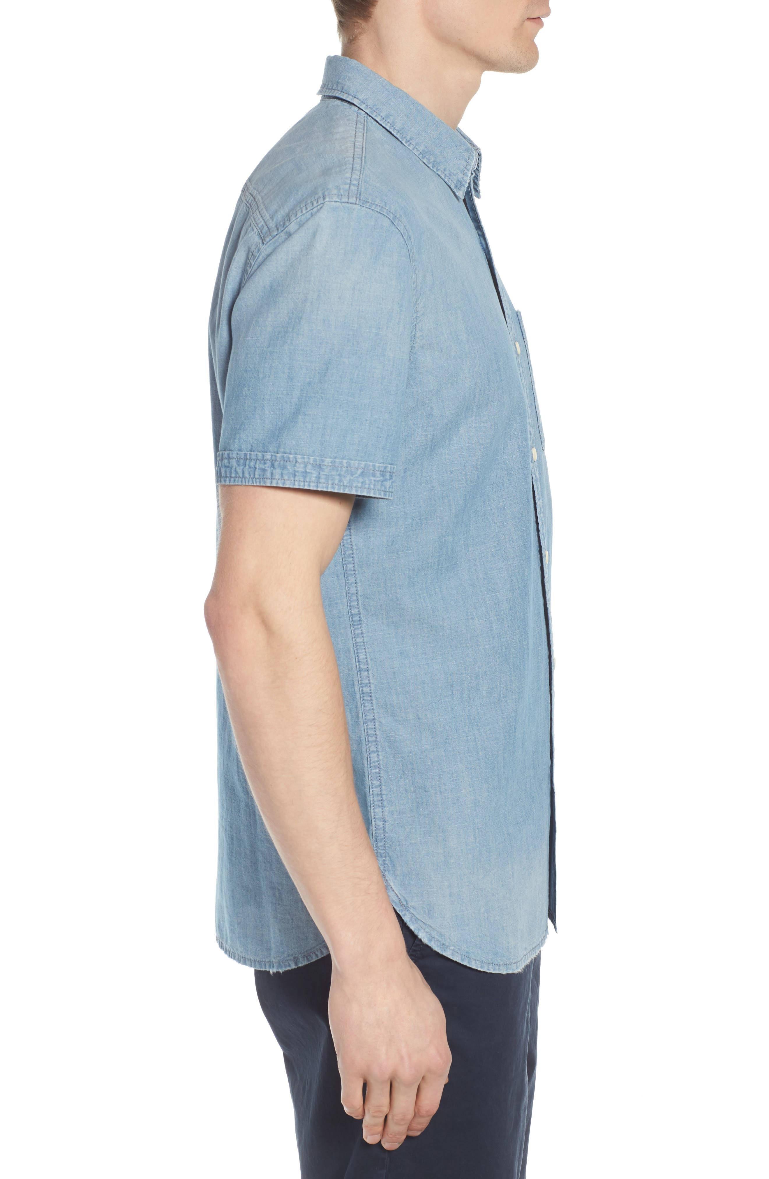 Pearson Regular Fit Short Sleeve Sport Shirt,                             Alternate thumbnail 4, color,                             Foray