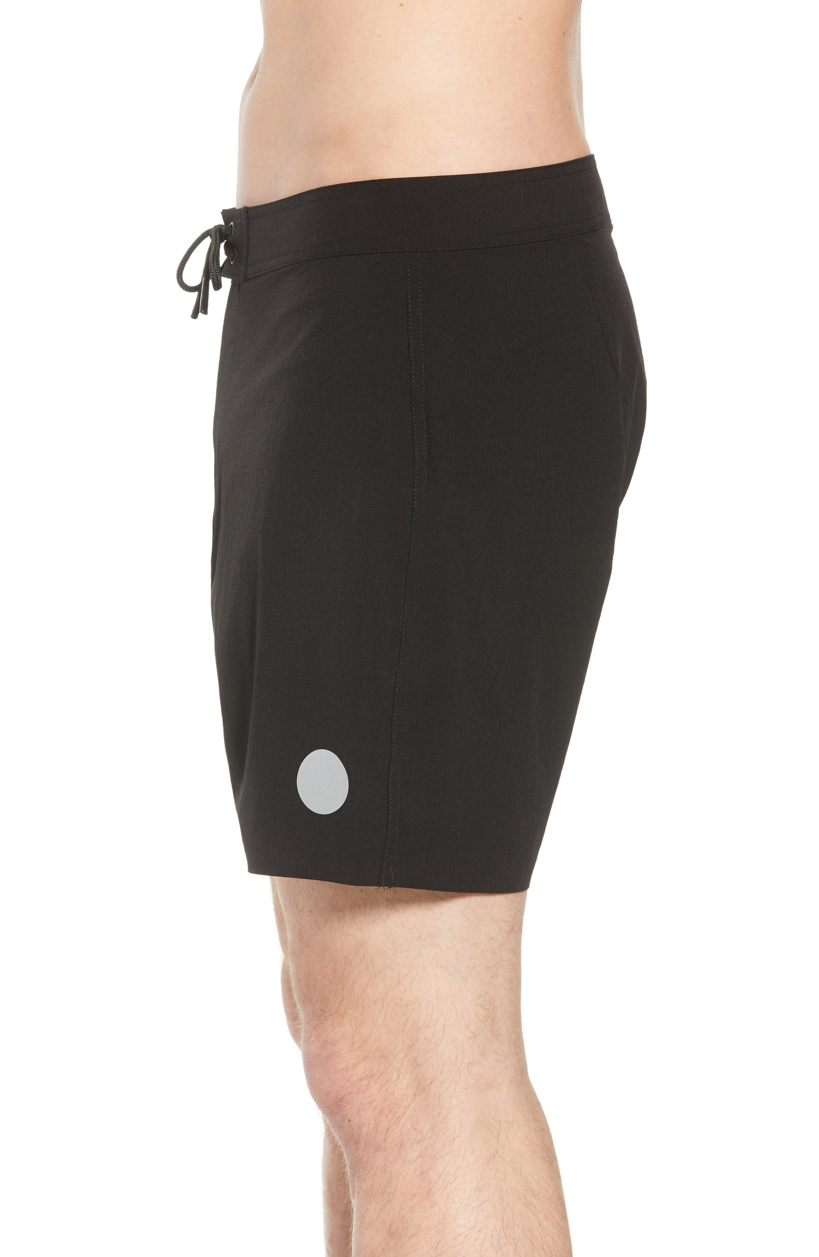 Danny Board Shorts,                             Alternate thumbnail 3, color,                             Black
