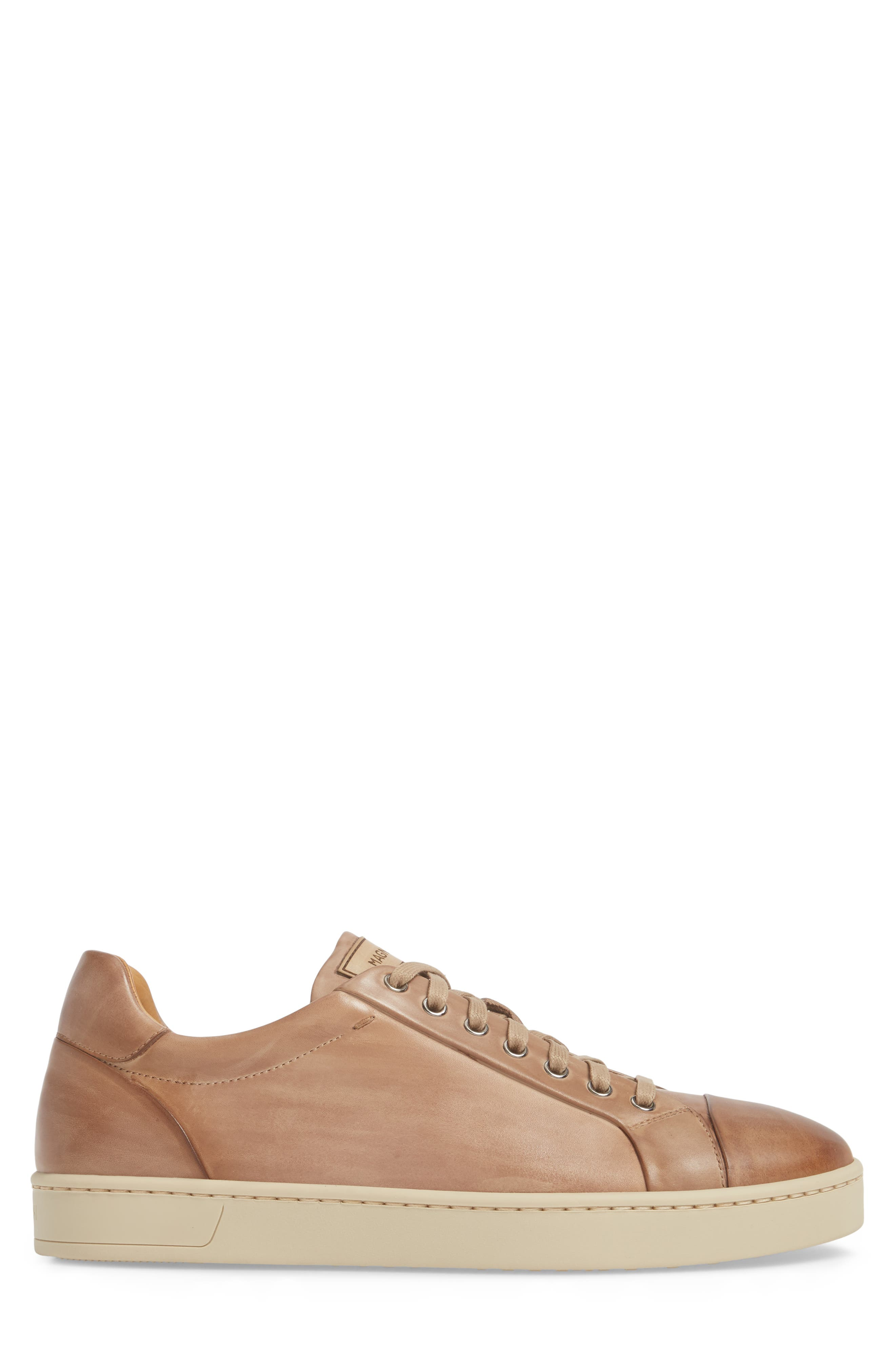 Erardo Low Top Sneaker,                             Alternate thumbnail 3, color,                             Taupe/ Taupe Leather