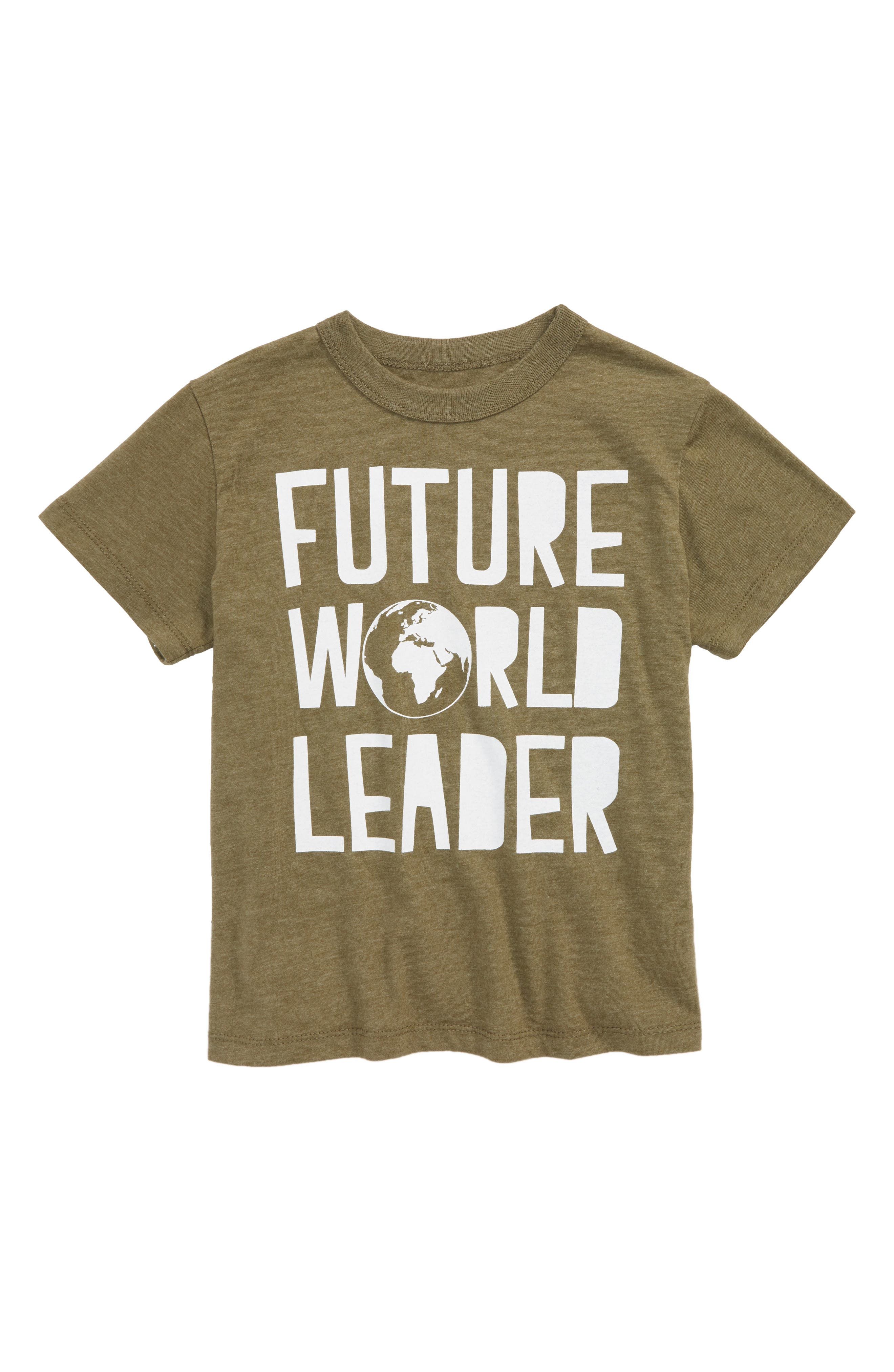Future World Leader T-Shirt,                             Main thumbnail 1, color,                             Military