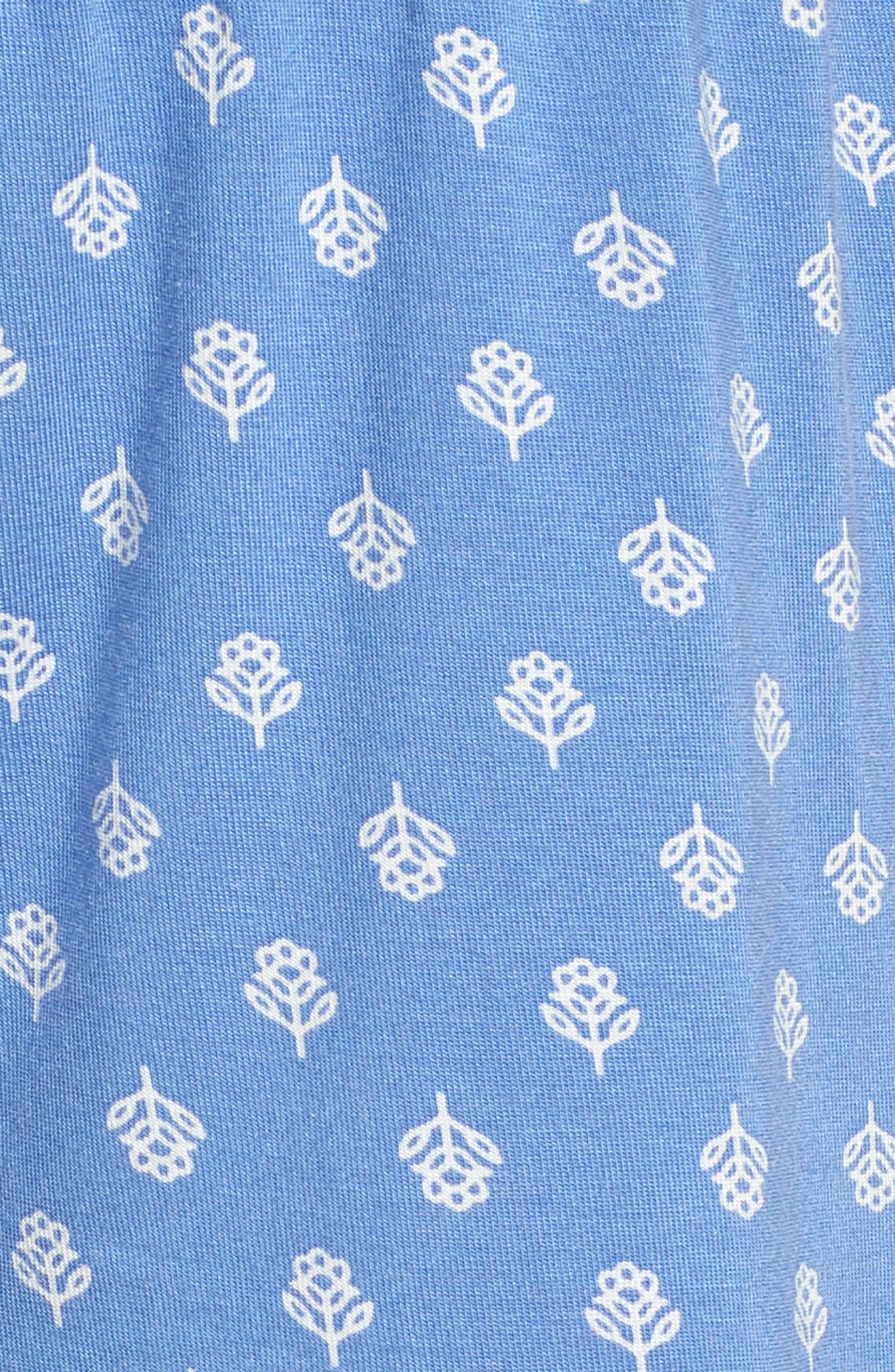 Pajama Shorts,                             Alternate thumbnail 7, color,                             Blue