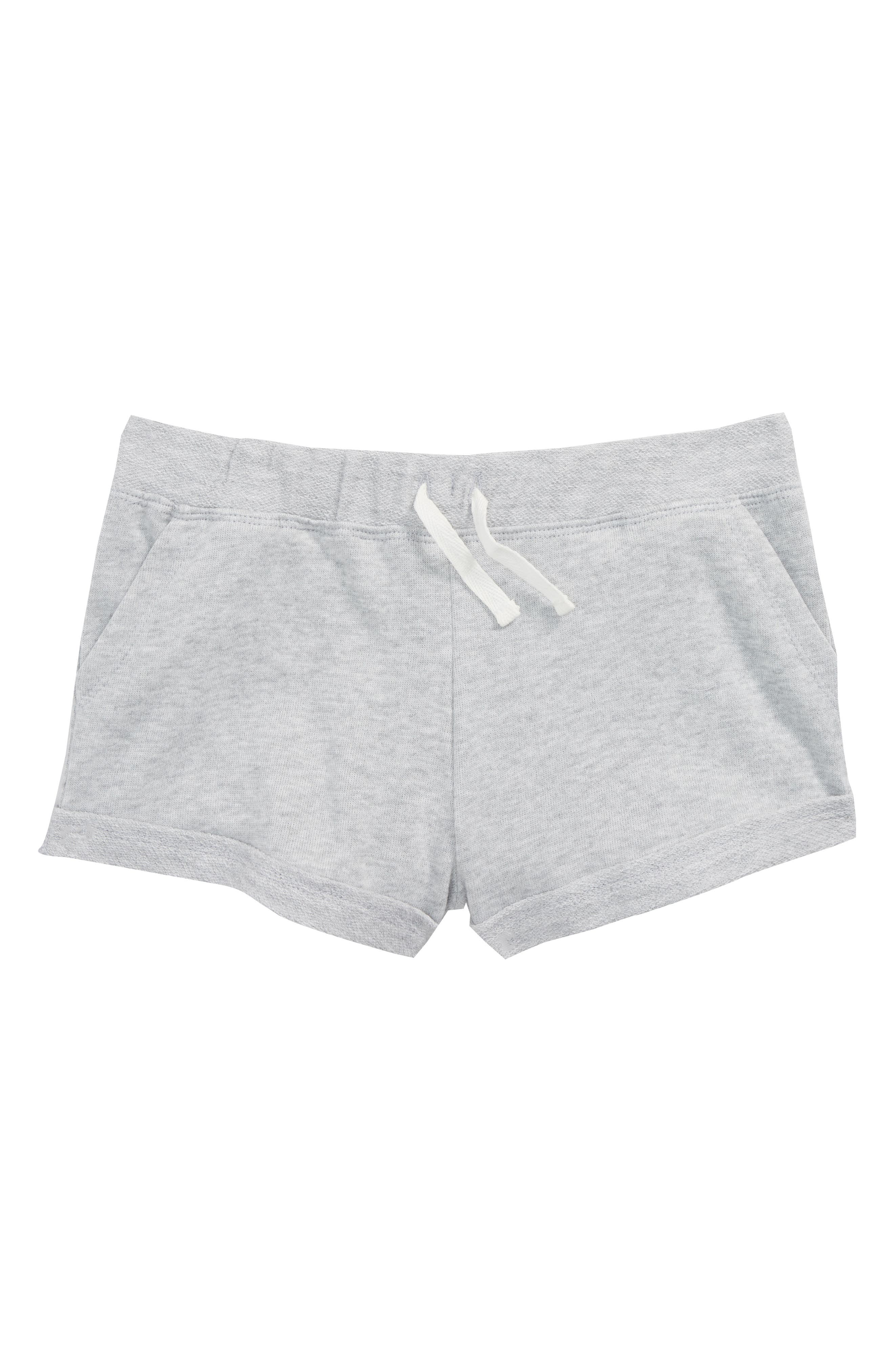 Cuff French Terry Shorts,                         Main,                         color, Ice Grey Heather