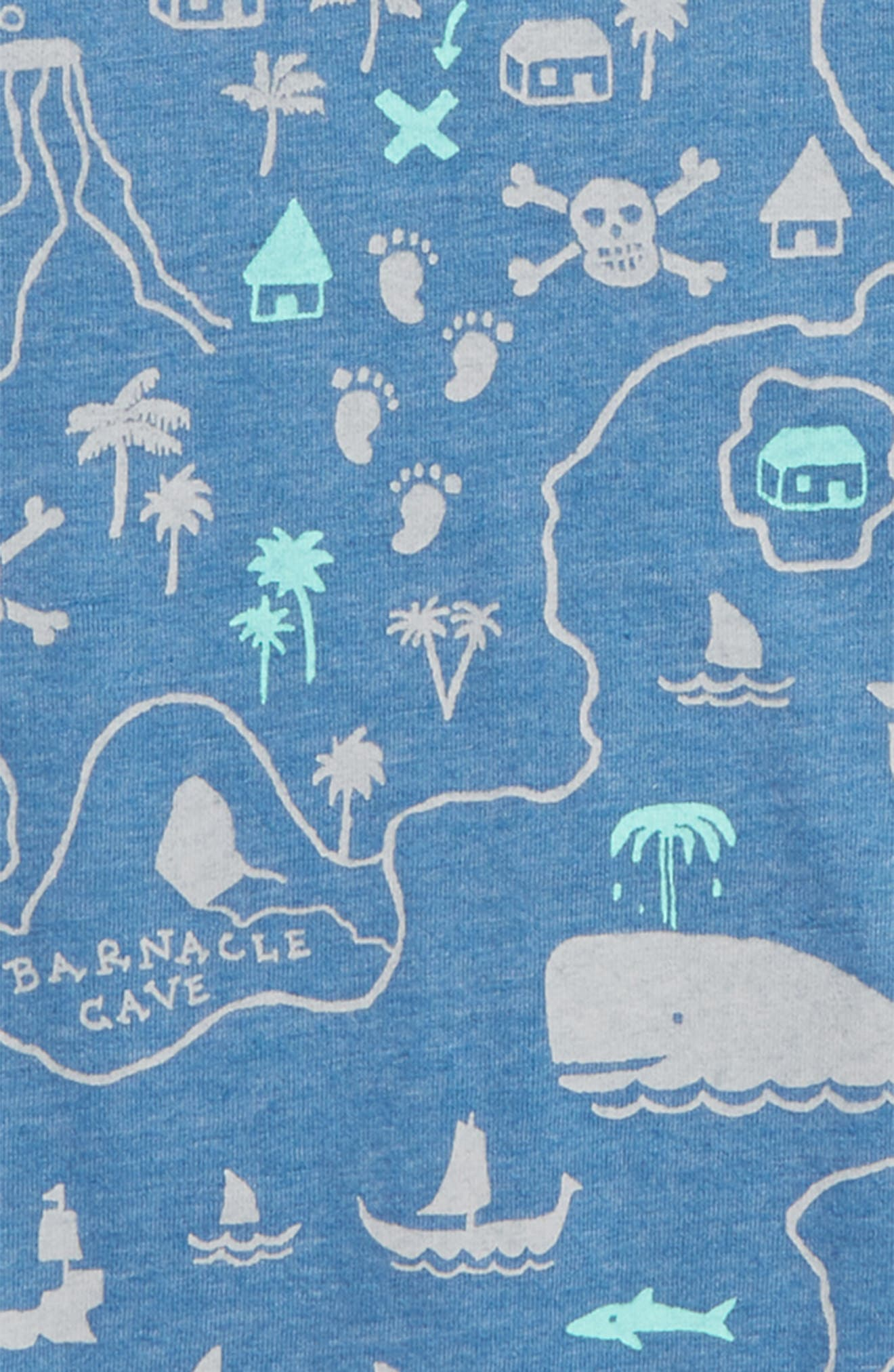Graphic T-Shirt,                             Alternate thumbnail 2, color,                             Blue Calm Treasure Map