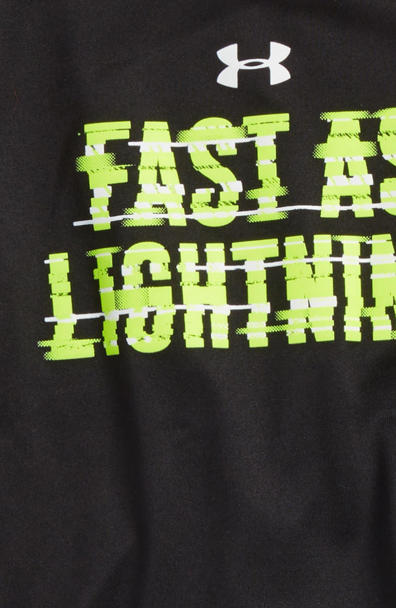 Fast As Lightning Shirt & Shorts Set,                             Alternate thumbnail 2, color,                             Black
