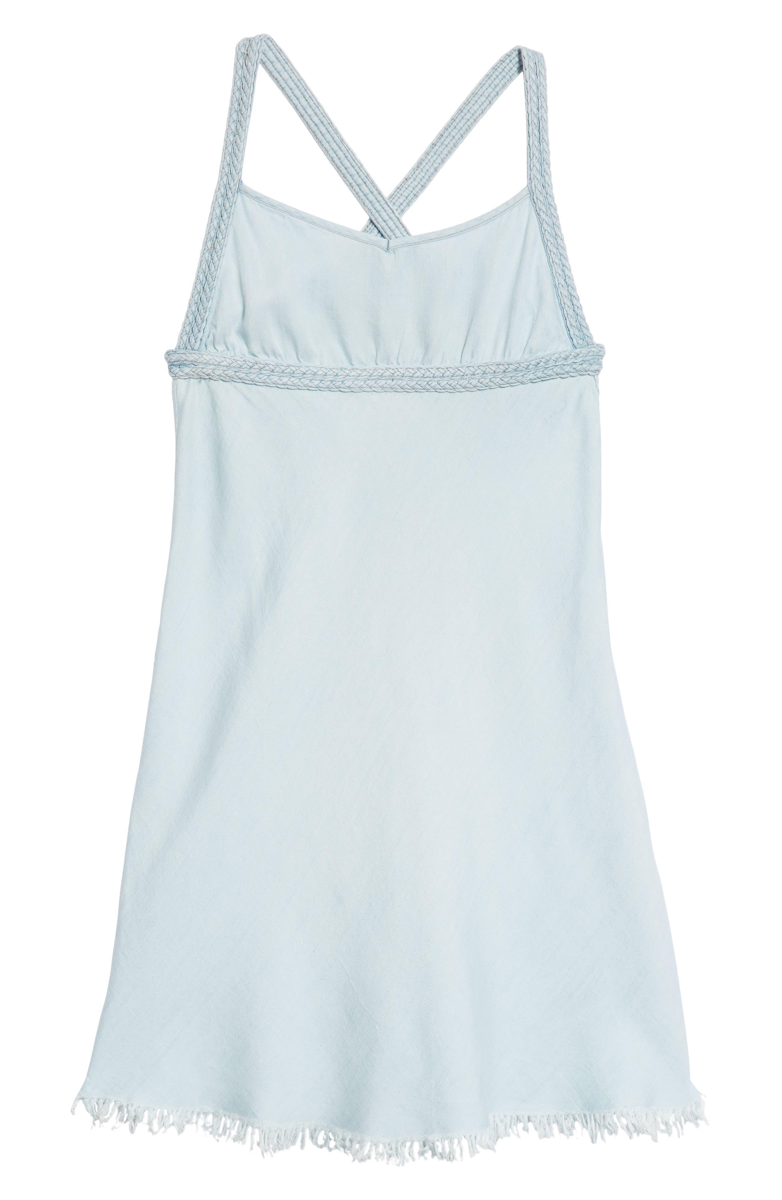 Braided High Neck Dress,                         Main,                         color, Indigo