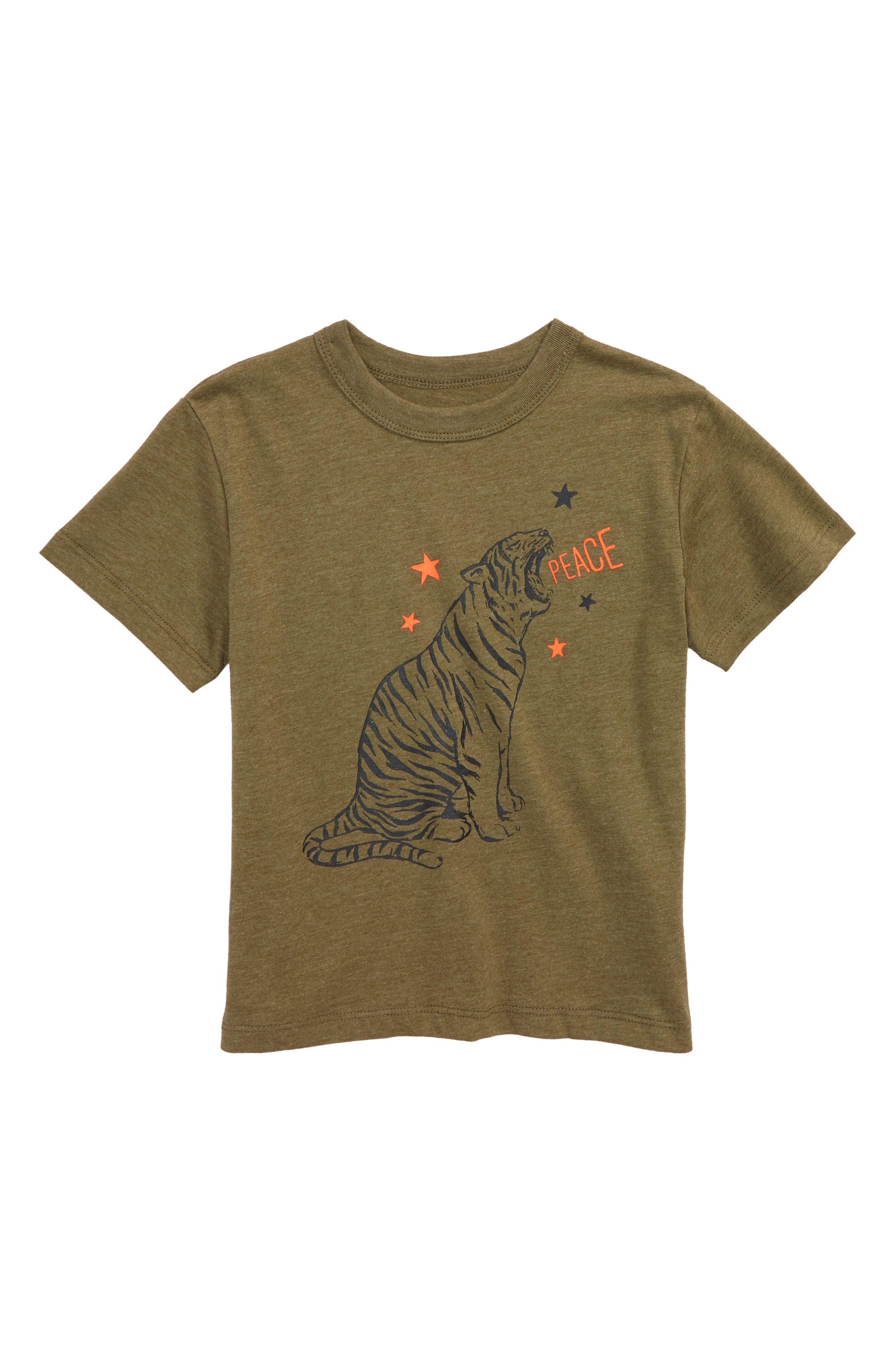 Tiger Star T-Shirt,                             Main thumbnail 1, color,                             Military