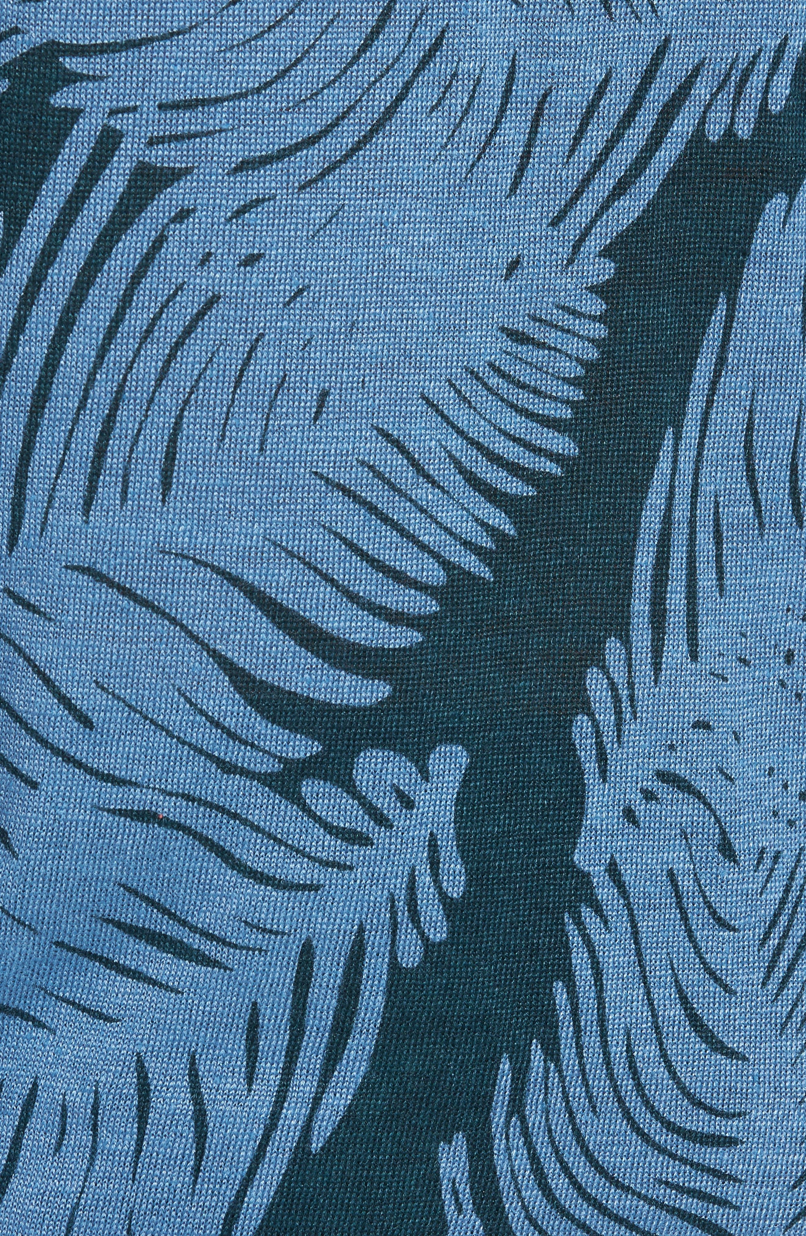 Palm Print Linen Sweater,                             Alternate thumbnail 5, color,                             Palm Fan Print