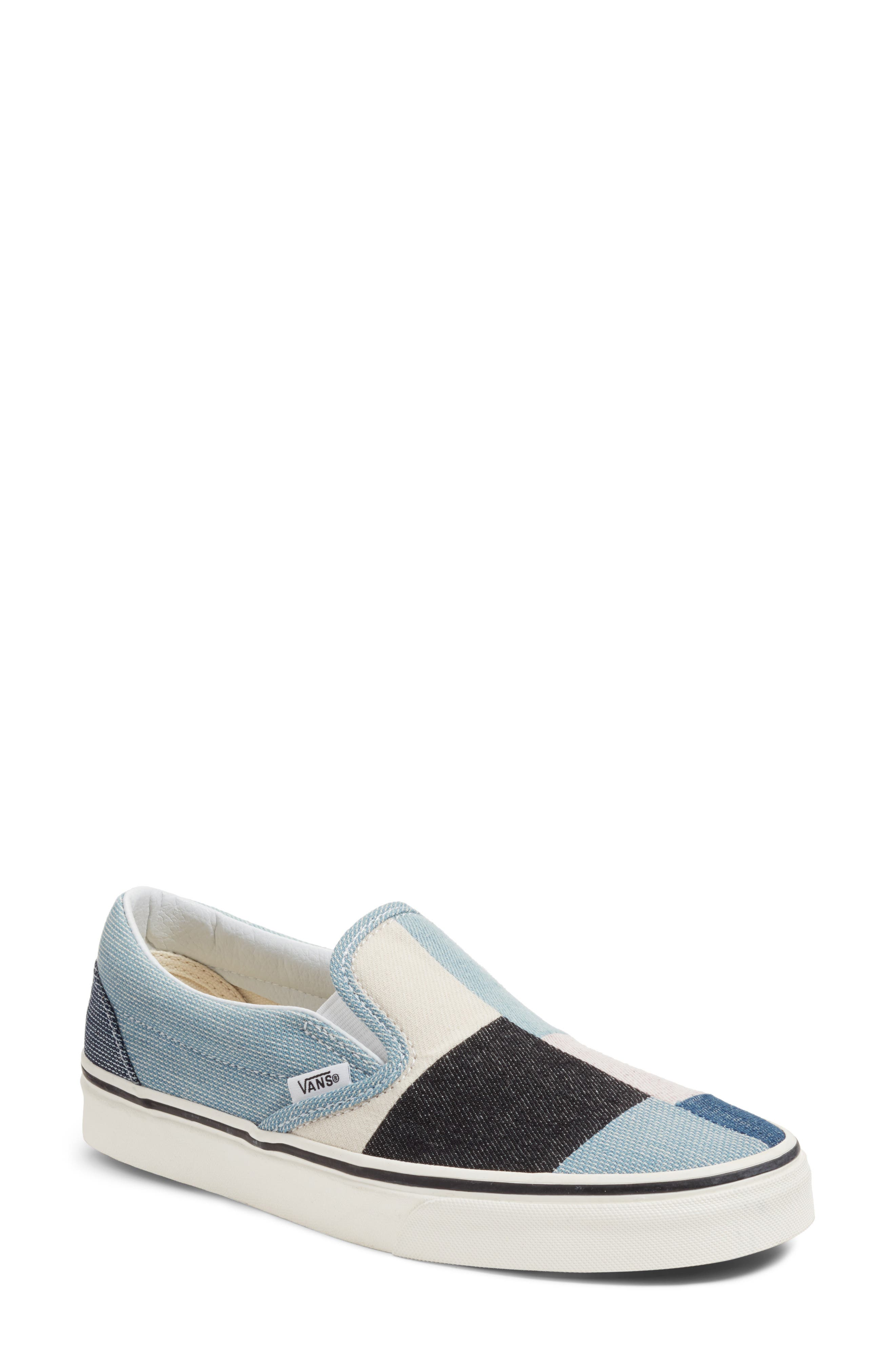 Slip-On Sneaker,                         Main,                         color, Patchwork Denim