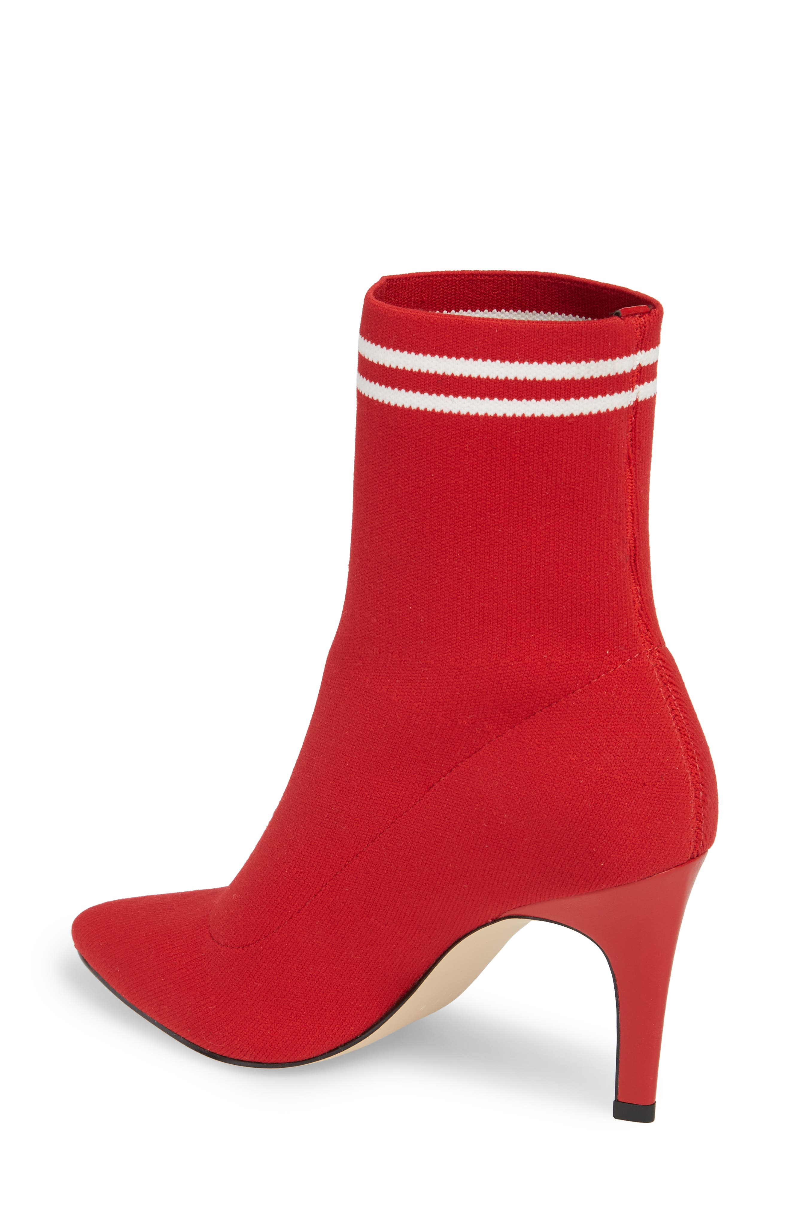 Finn Sock Bootie,                             Alternate thumbnail 2, color,                             Red Stretch