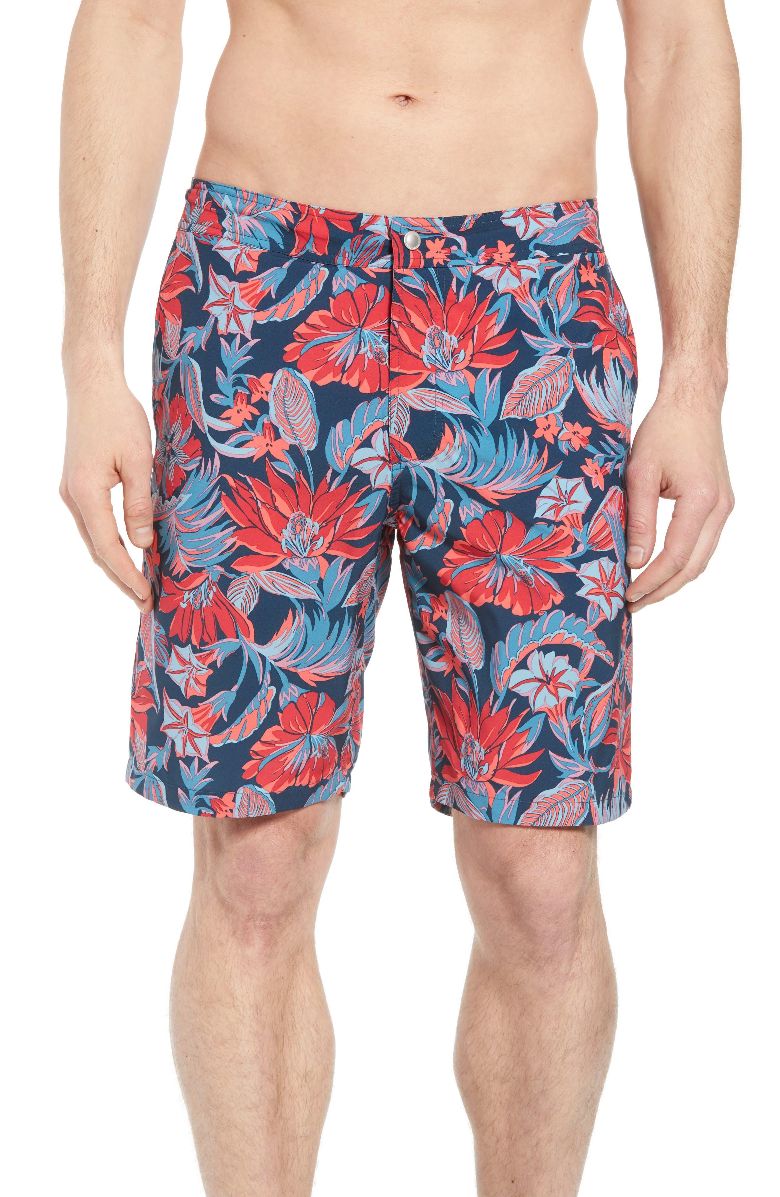 Banzai 9-Inch Swim Trunks,                         Main,                         color, Pavillion Floral Print