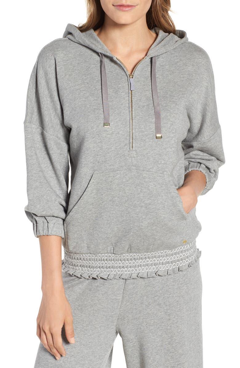 smocked hoodie sweatshirt