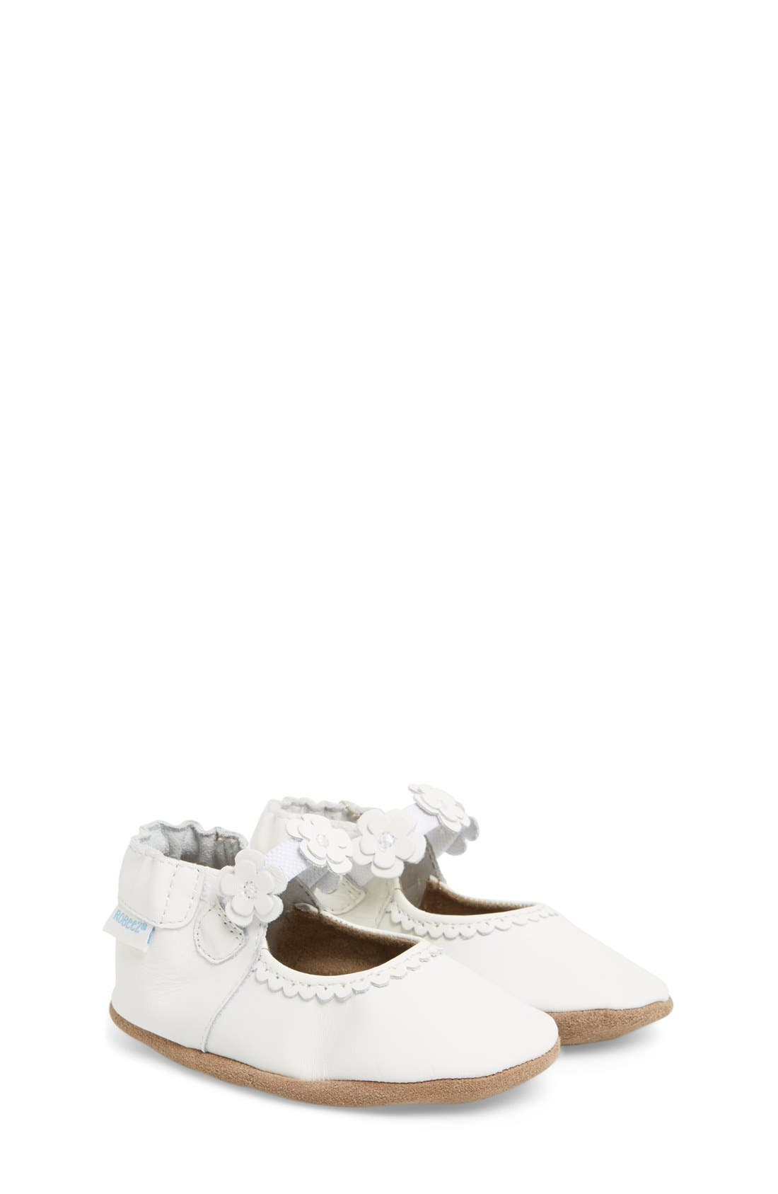 Alternate Image 1 Selected - Robeez® 'Claire' Mary Jane Crib Shoe (Baby & Walker)
