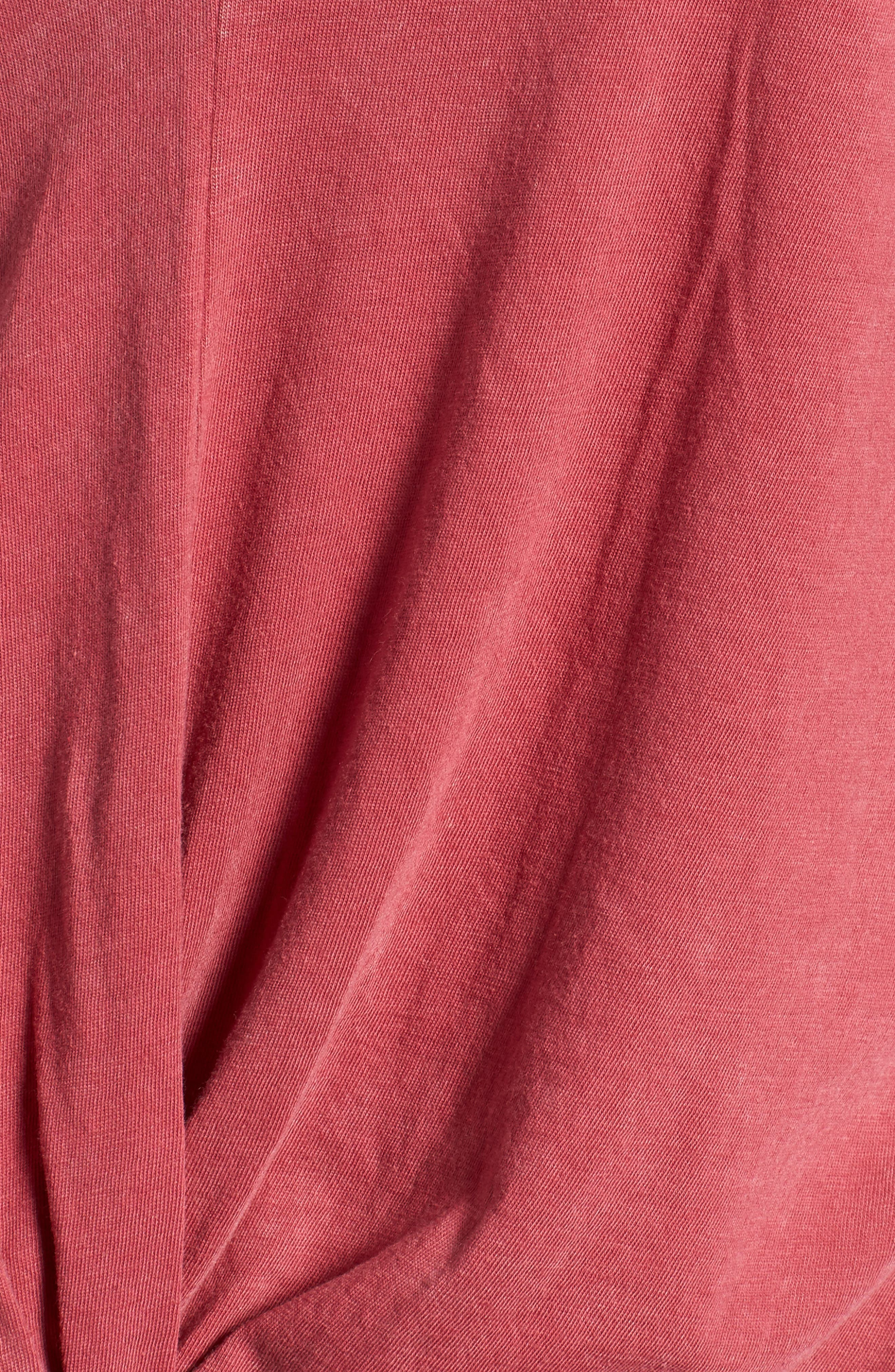 Twist Detail Tee,                             Alternate thumbnail 5, color,                             Red Slate