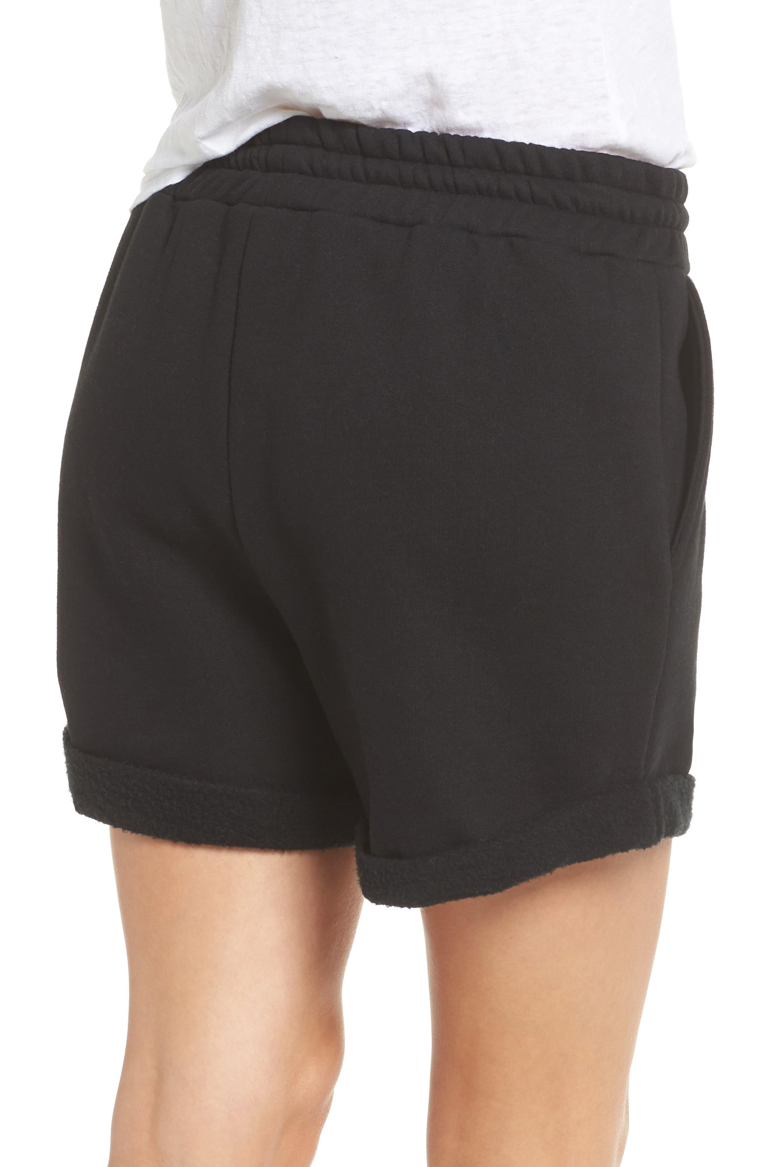 Blonde Lounge Shorts,                             Alternate thumbnail 2, color,                             Black