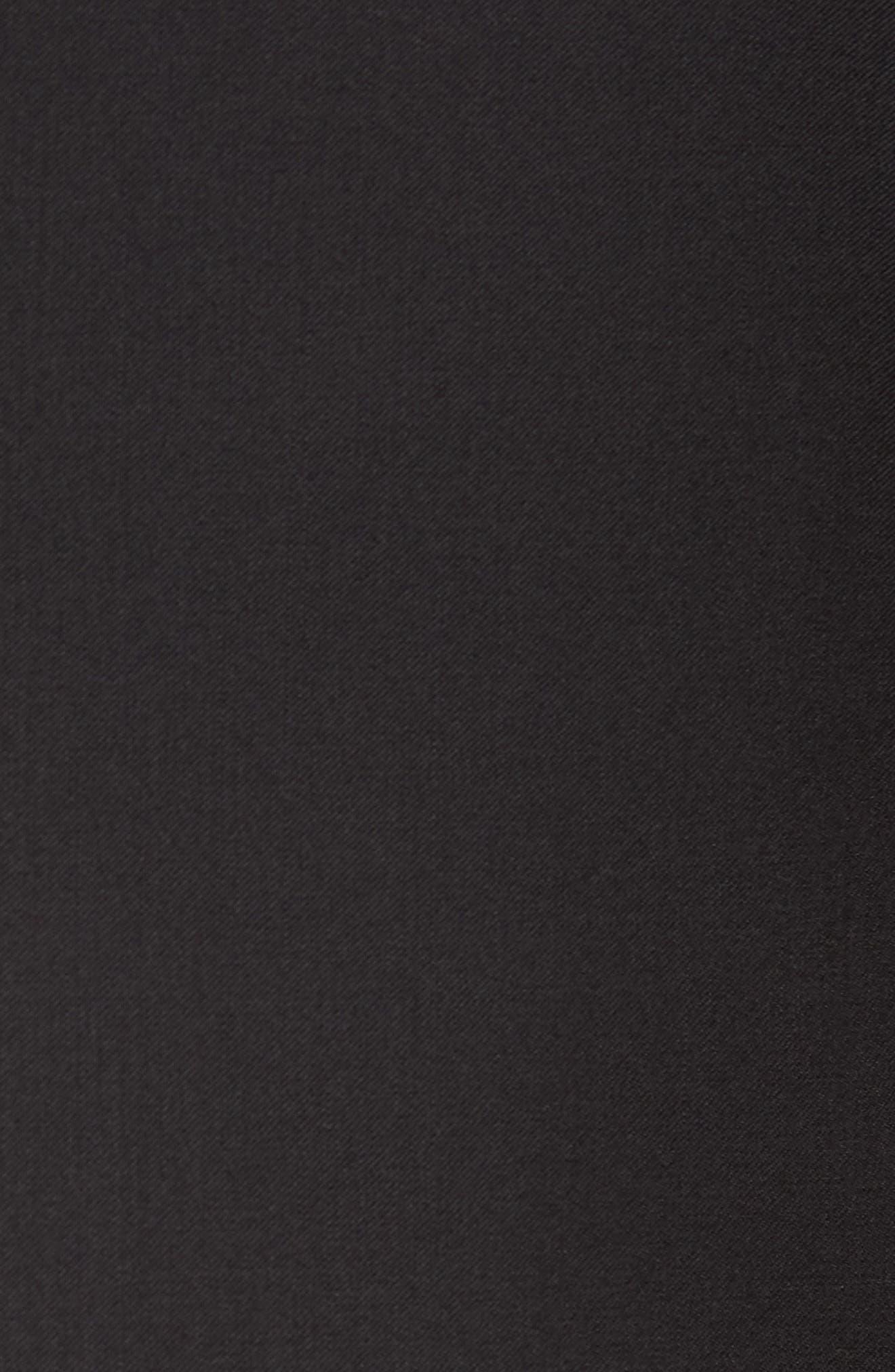 Johnstons CYL Trim Fit Solid Wool Sport Coat,                             Alternate thumbnail 5, color,                             Black