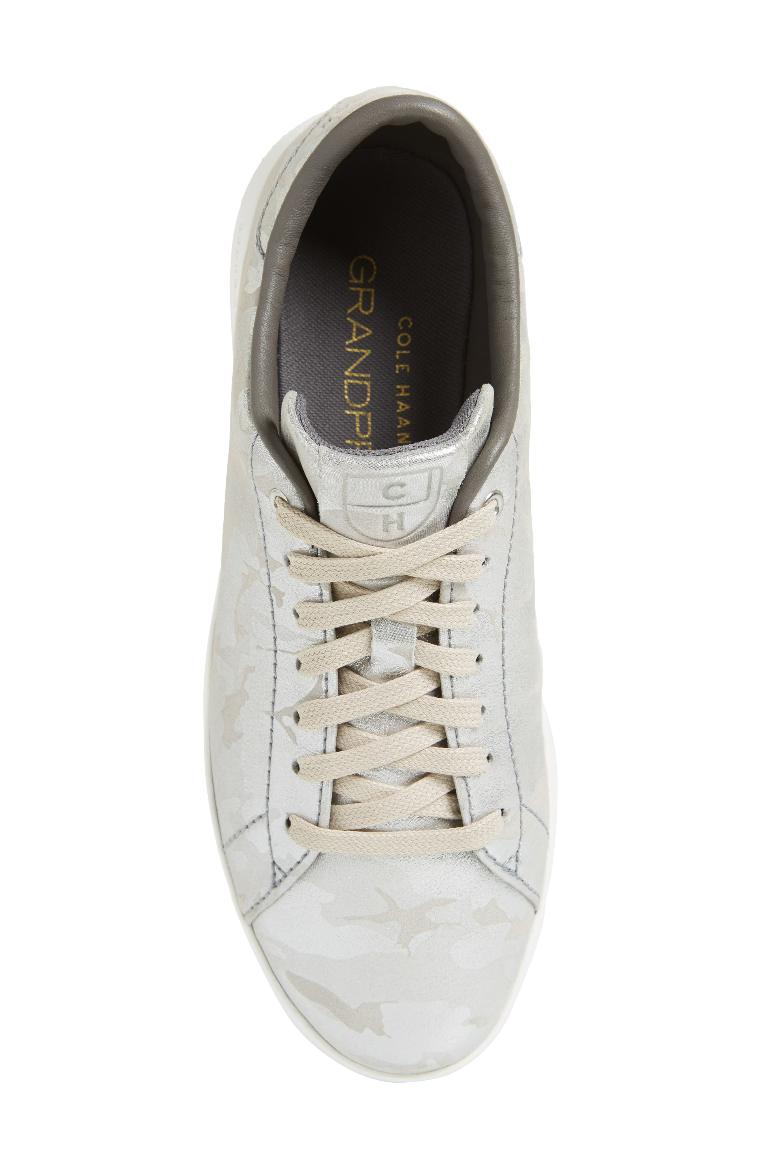 GrandPro Tennis Shoe,                             Alternate thumbnail 5, color,                             Dove Metallic Camo Leather