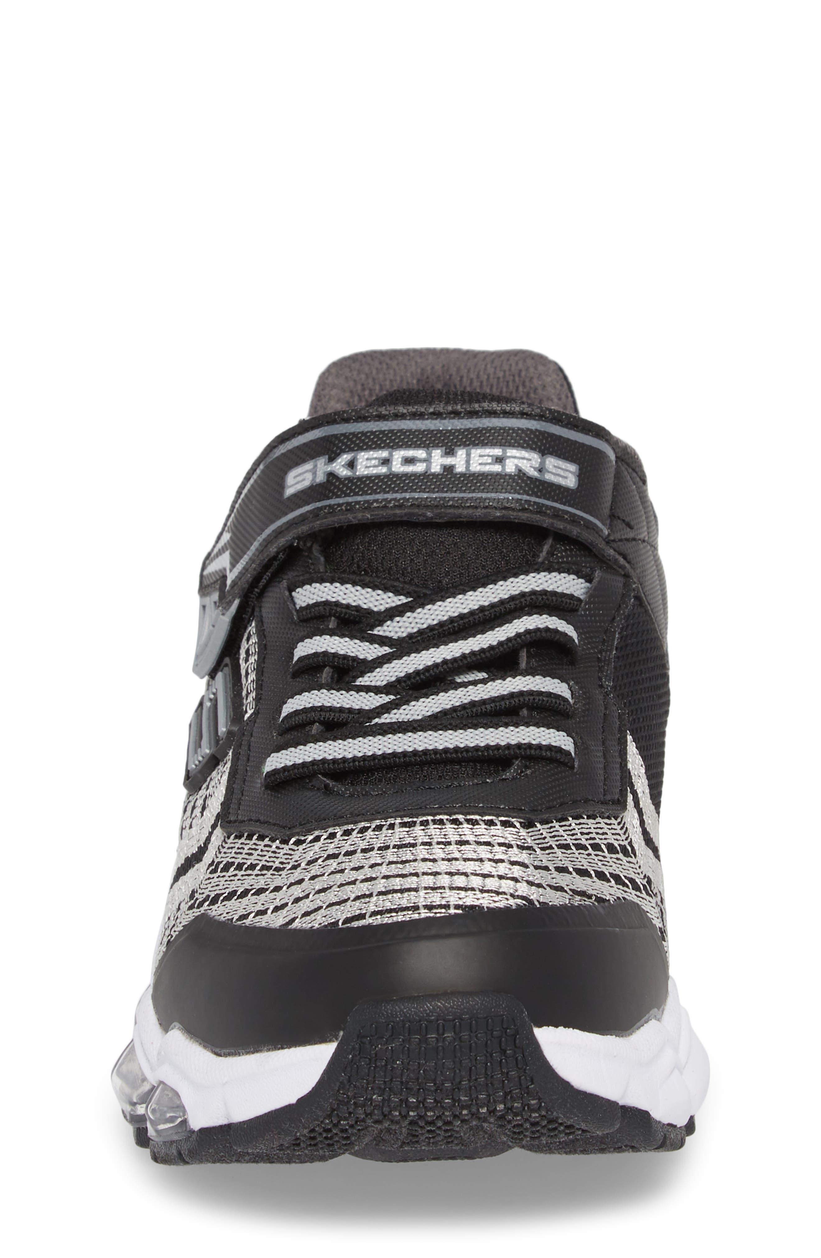 Energy Lights Sneaker,                             Alternate thumbnail 4, color,                             Black/ Silver