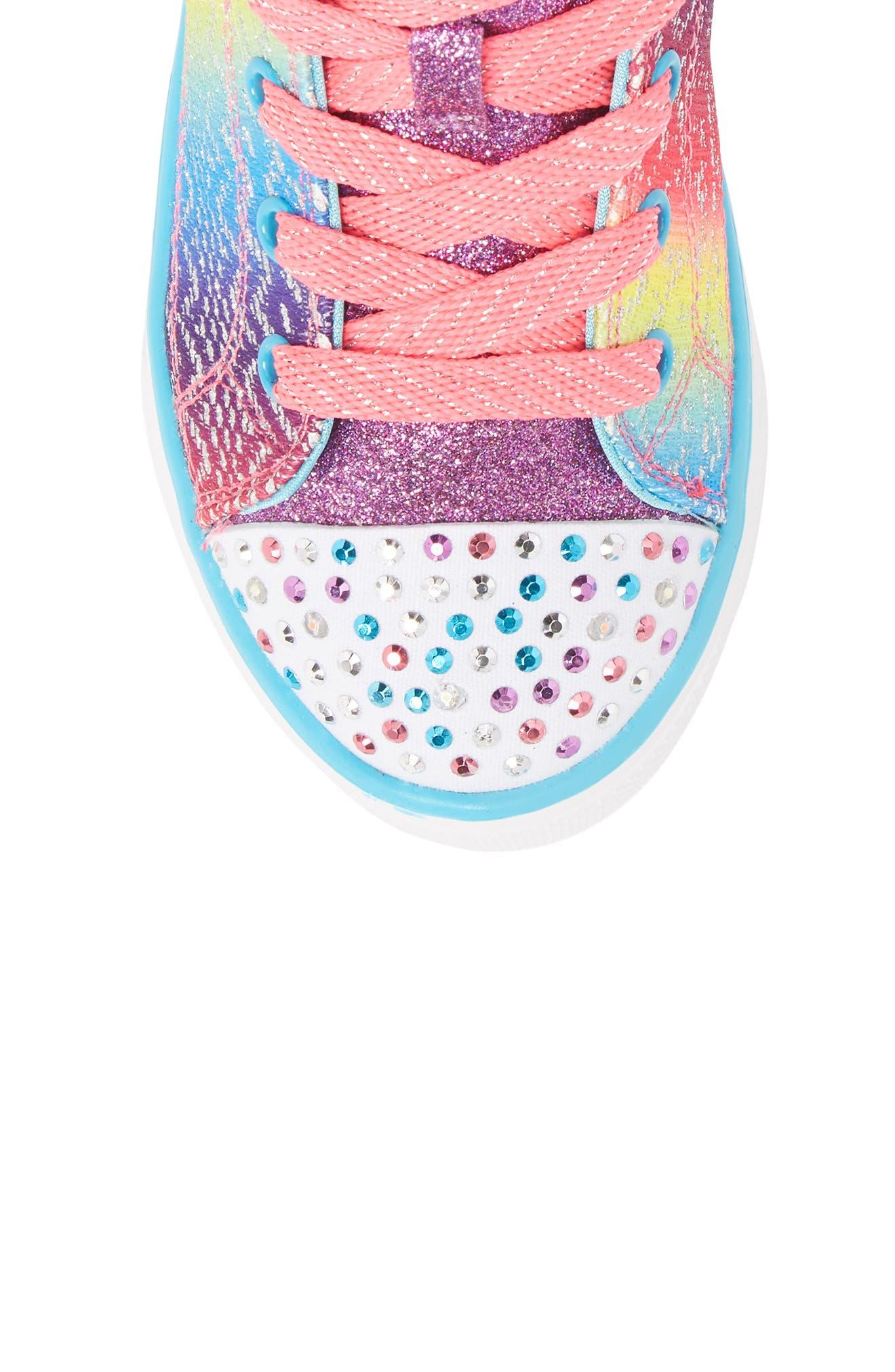 Alternate Image 5  - SKECHERS Twinkle Toes Breeze 2.0 Light-Up High Top Sneaker (Toddler, Little Kid & Big Kid)