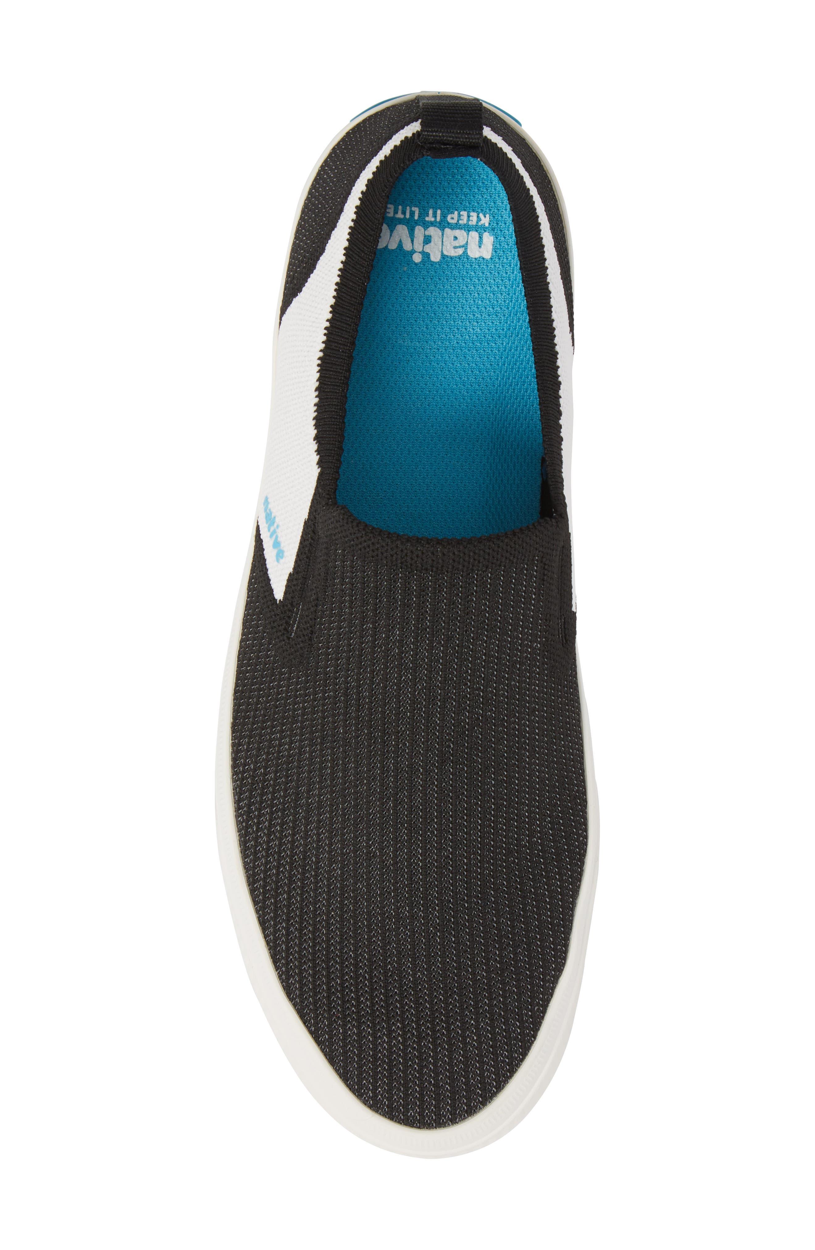Native Miles LiteKnit Slip-On Sneaker,                             Alternate thumbnail 5, color,                             Jiffy Black/ Shell White