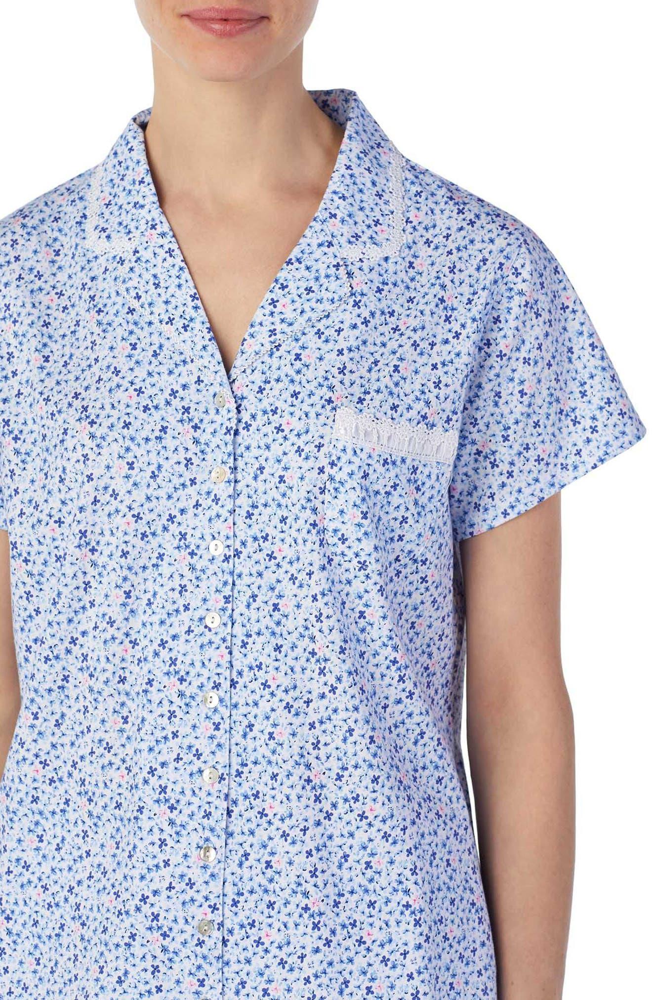 Jersey Capri Pajamas,                             Alternate thumbnail 3, color,                             Pink/ Blue