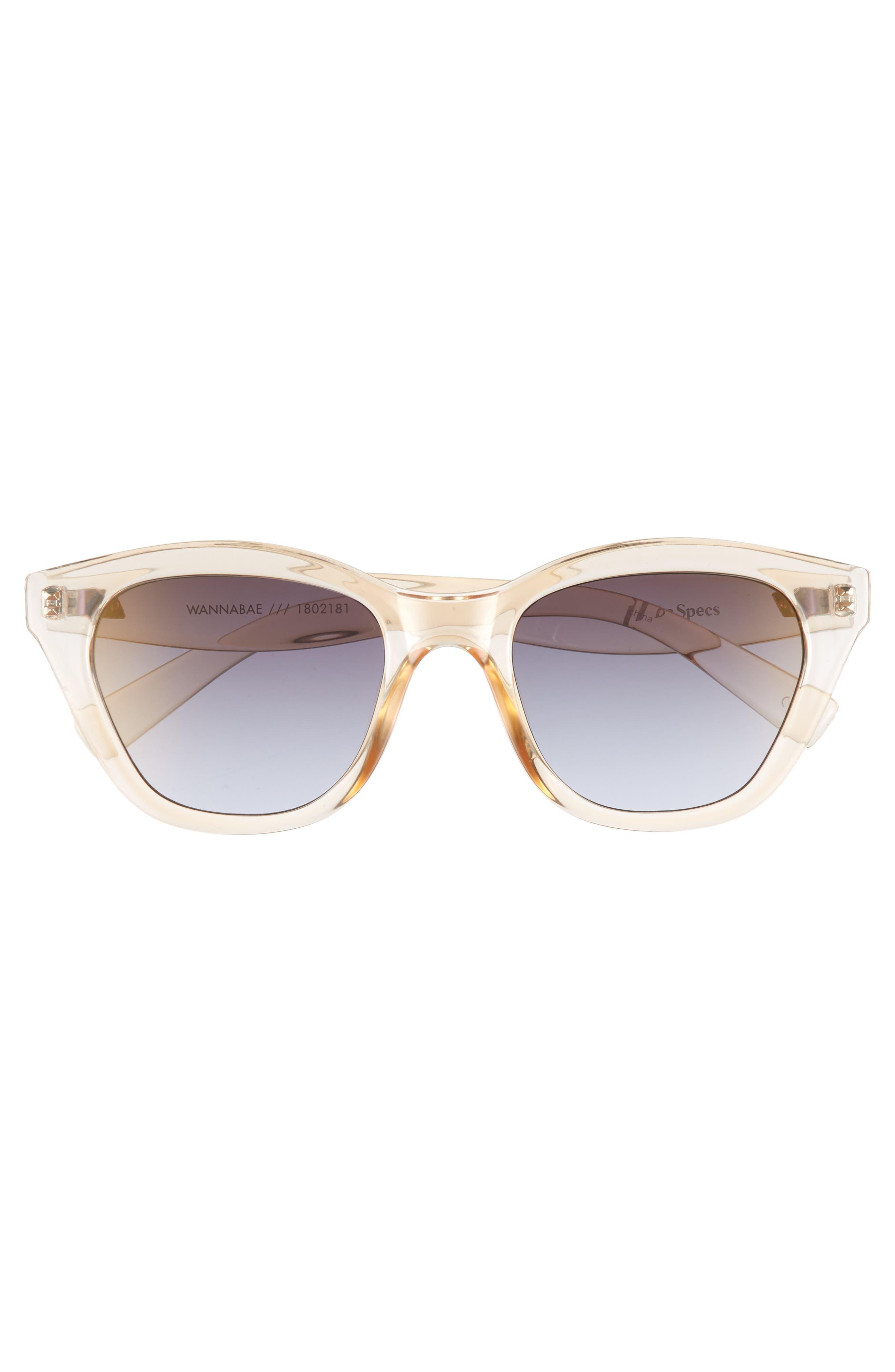 Wannabae 49mm Angular Sunglasses,                             Alternate thumbnail 3, color,                             Blonde