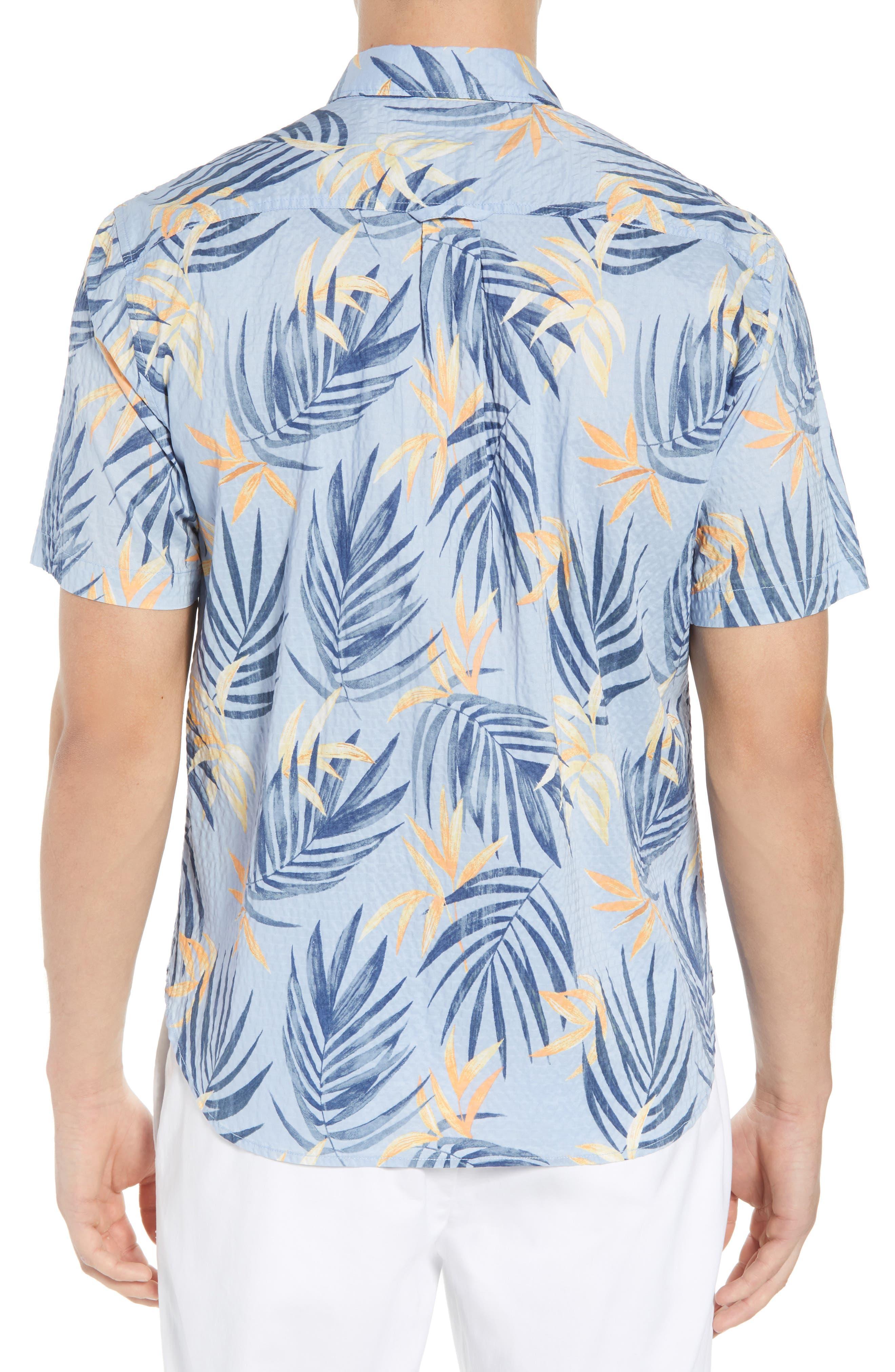 Alternate Image 3  - Tommy Bahama Fiesta Fronds Seersucker Sport Shirt
