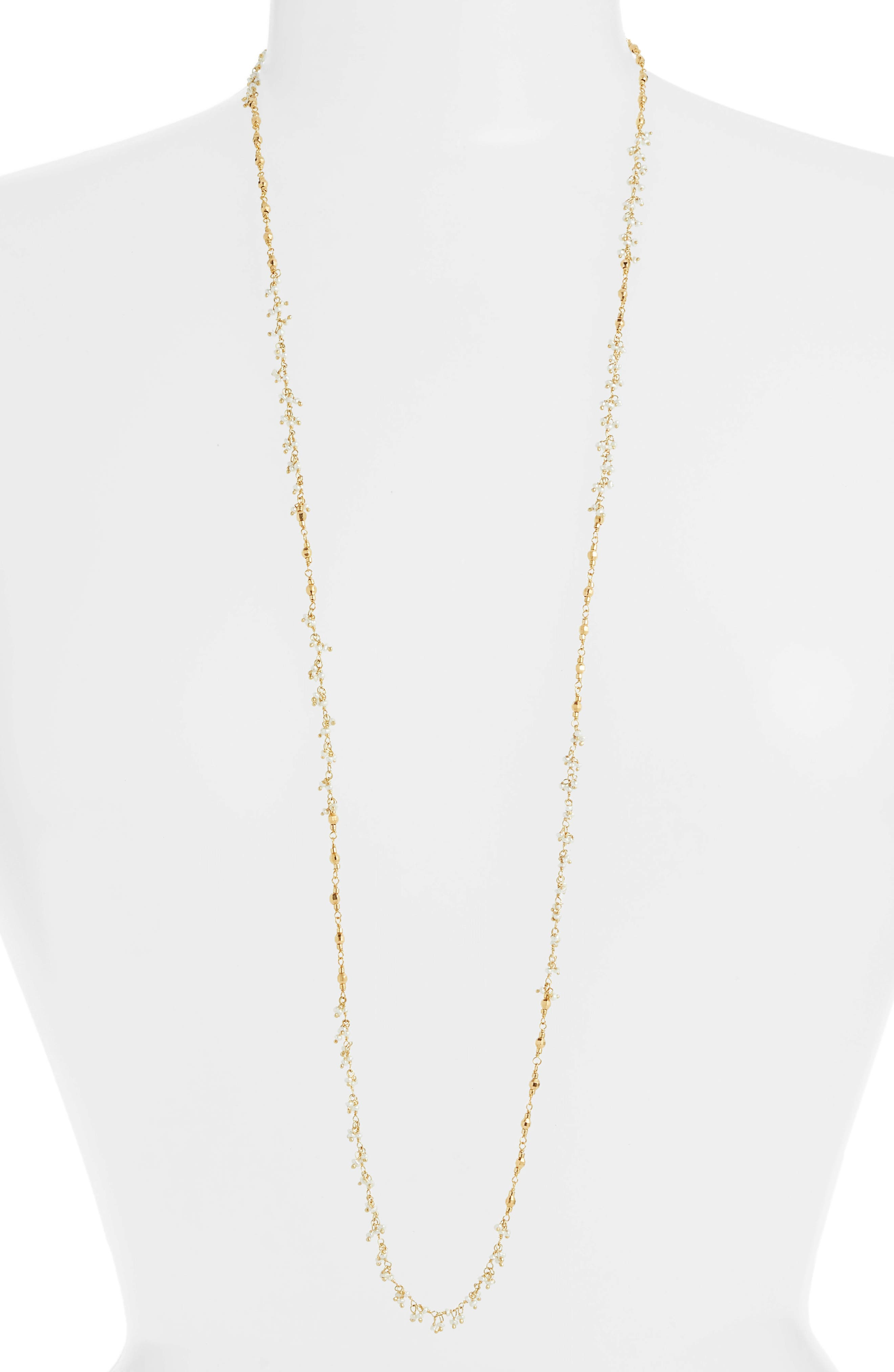 Chan Luu White Pearl Layering Necklace