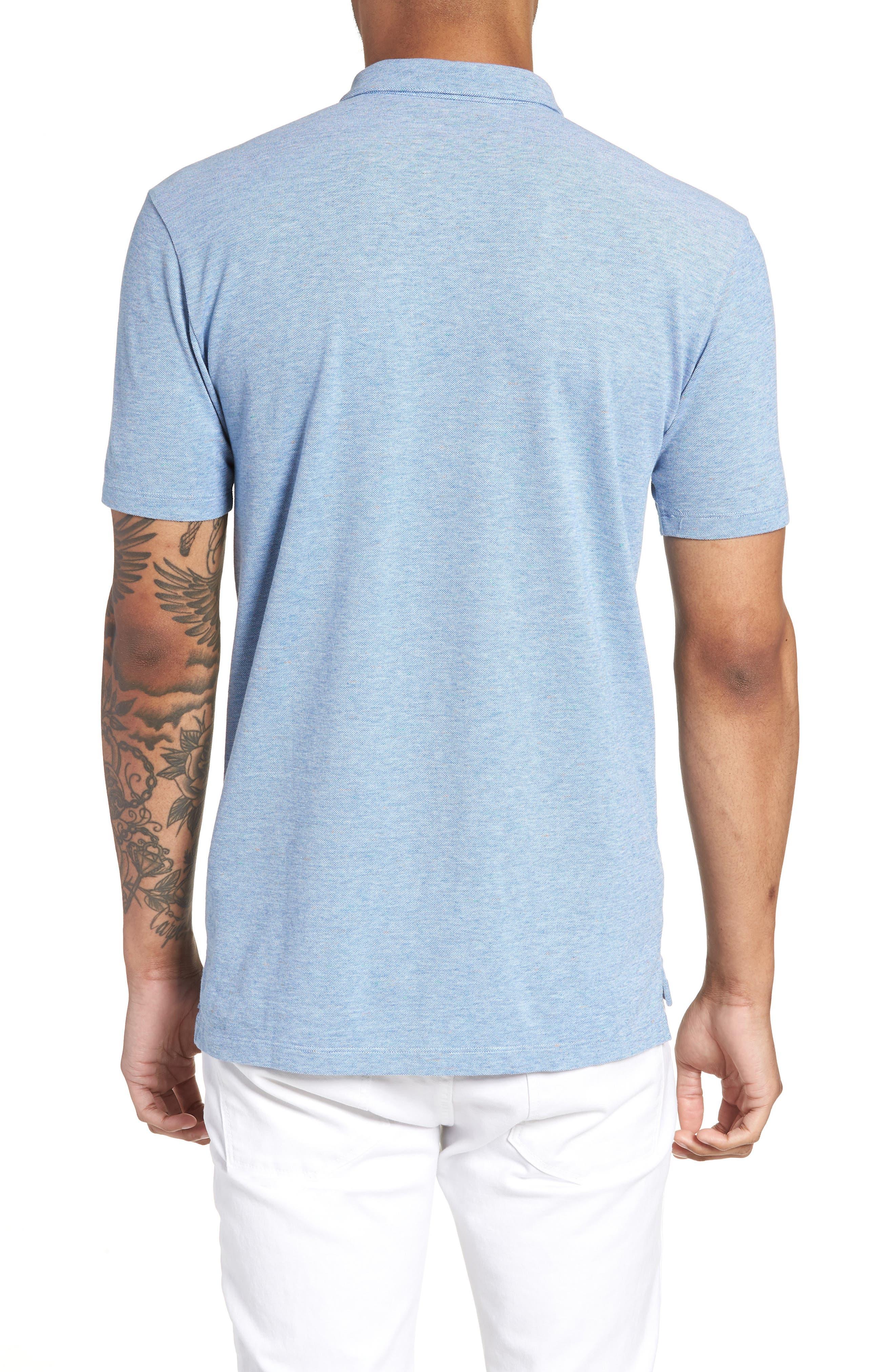 Darrow Cotton Polo Shirt,                             Alternate thumbnail 2, color,                             Blue