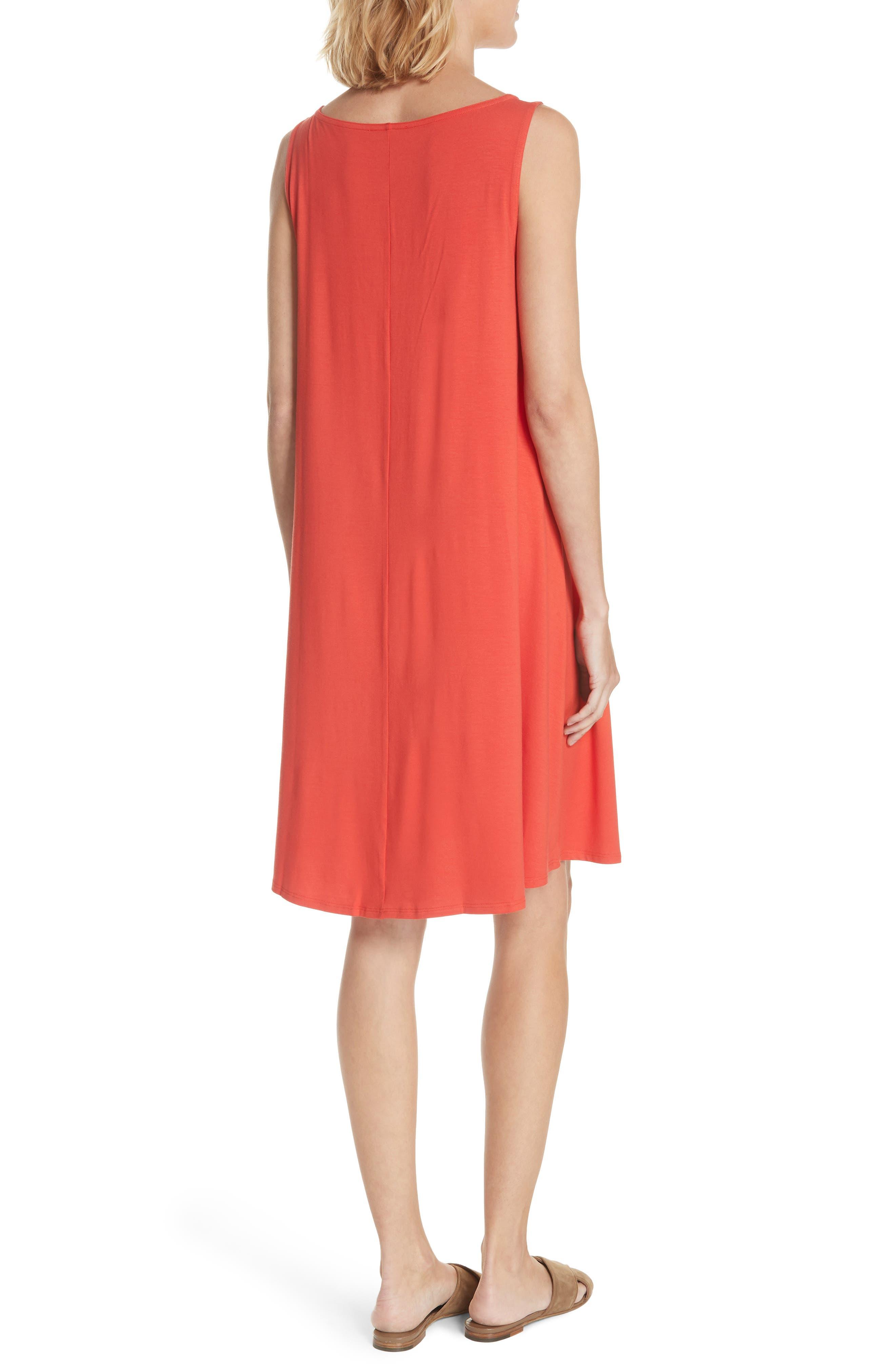 Alternate Image 2  - Eileen Fisher Lightweight Jersey Shift Dress (Regular & Petite) (Nordstrom Exclusive)
