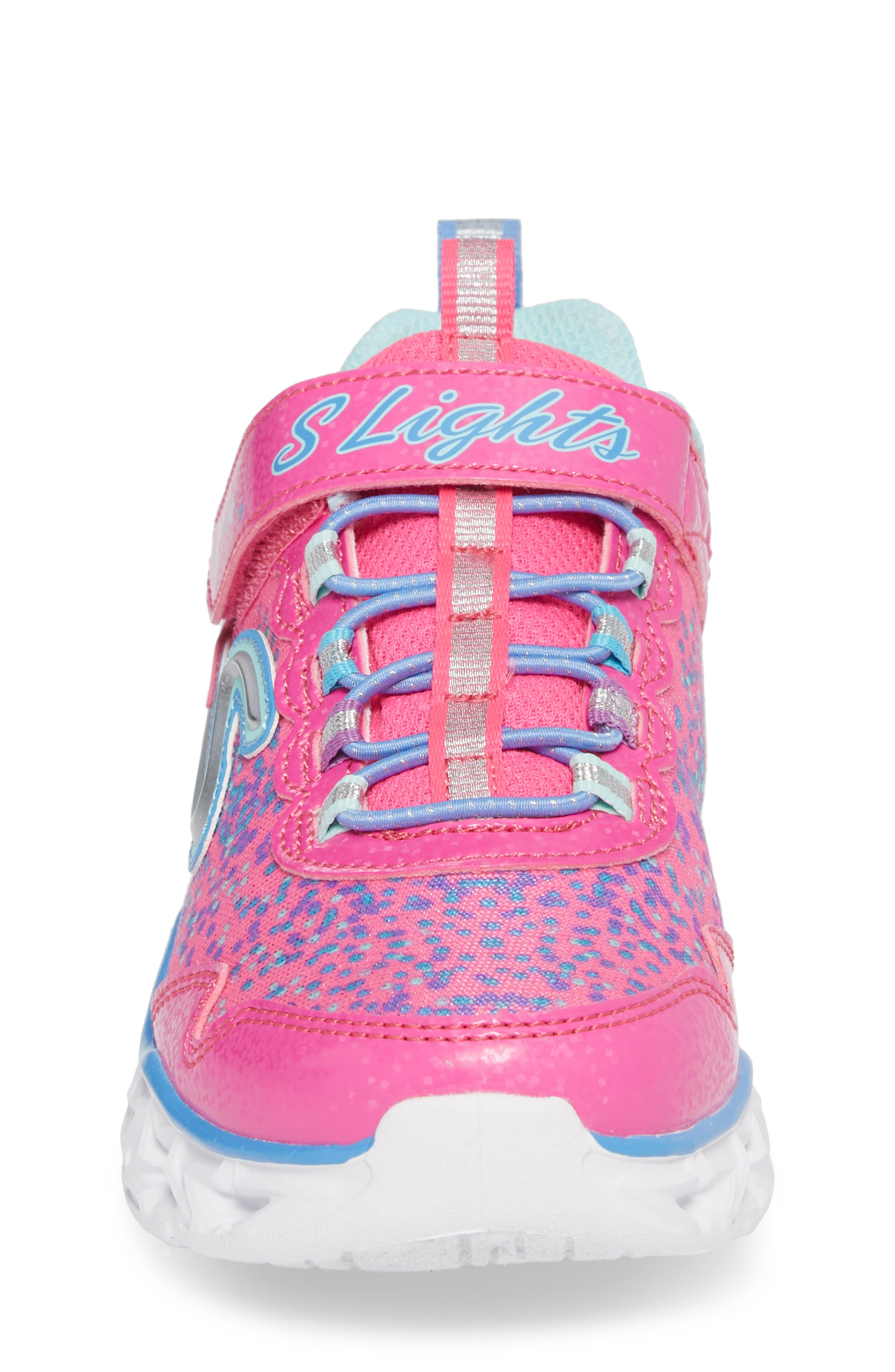 Galaxy Lights Sneakers,                             Alternate thumbnail 4, color,                             Neon Pink/ Multi