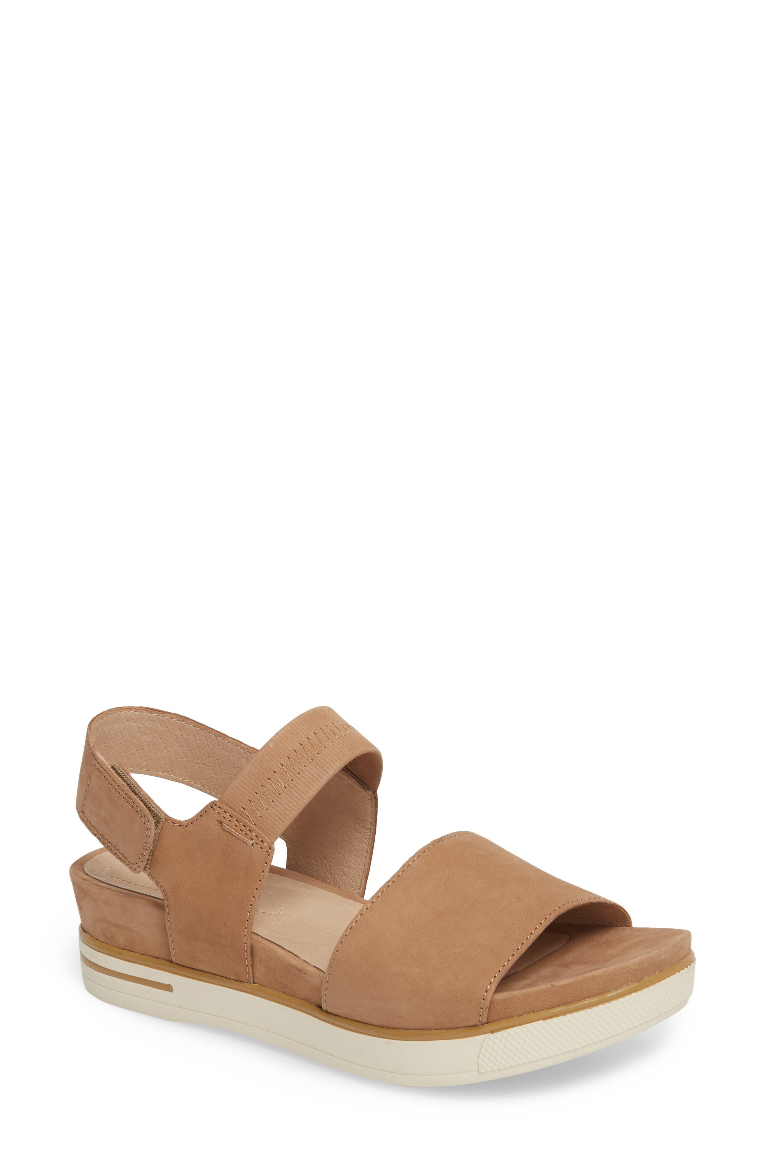Somer Sandal,                         Main,                         color, Wheat Nubuck