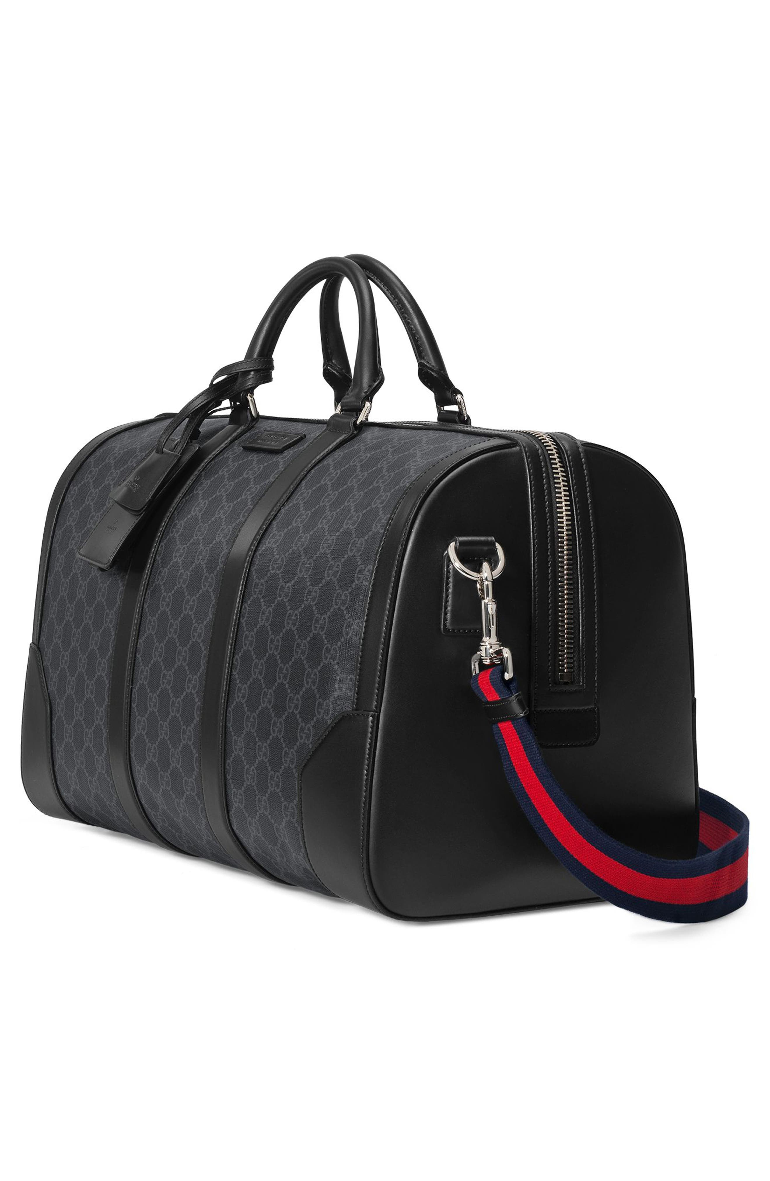GG Supreme Duffel Bag,                             Alternate thumbnail 3, color,                             Black