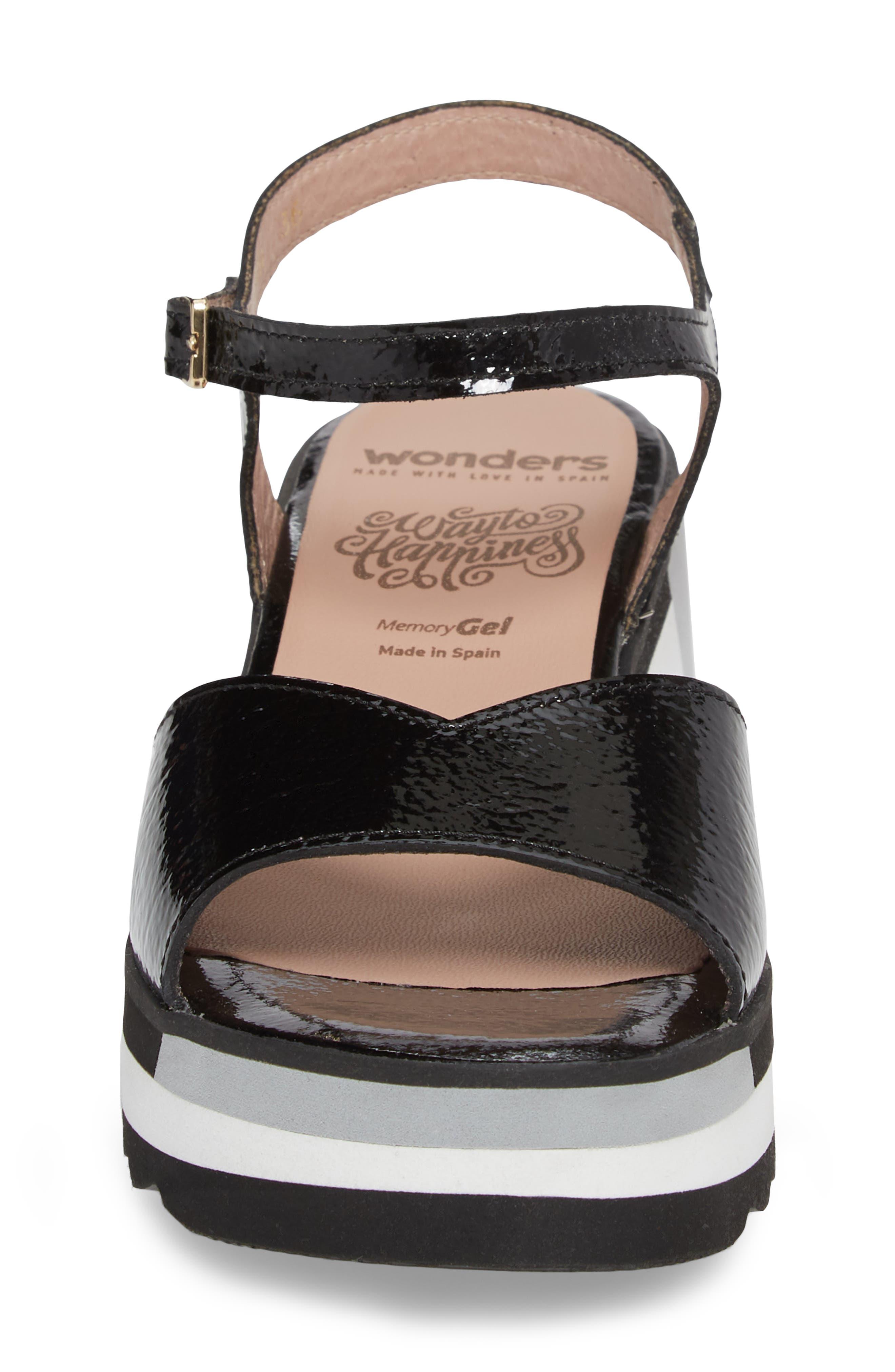 D-7810 Sandal,                             Alternate thumbnail 4, color,                             Black Patent Leather