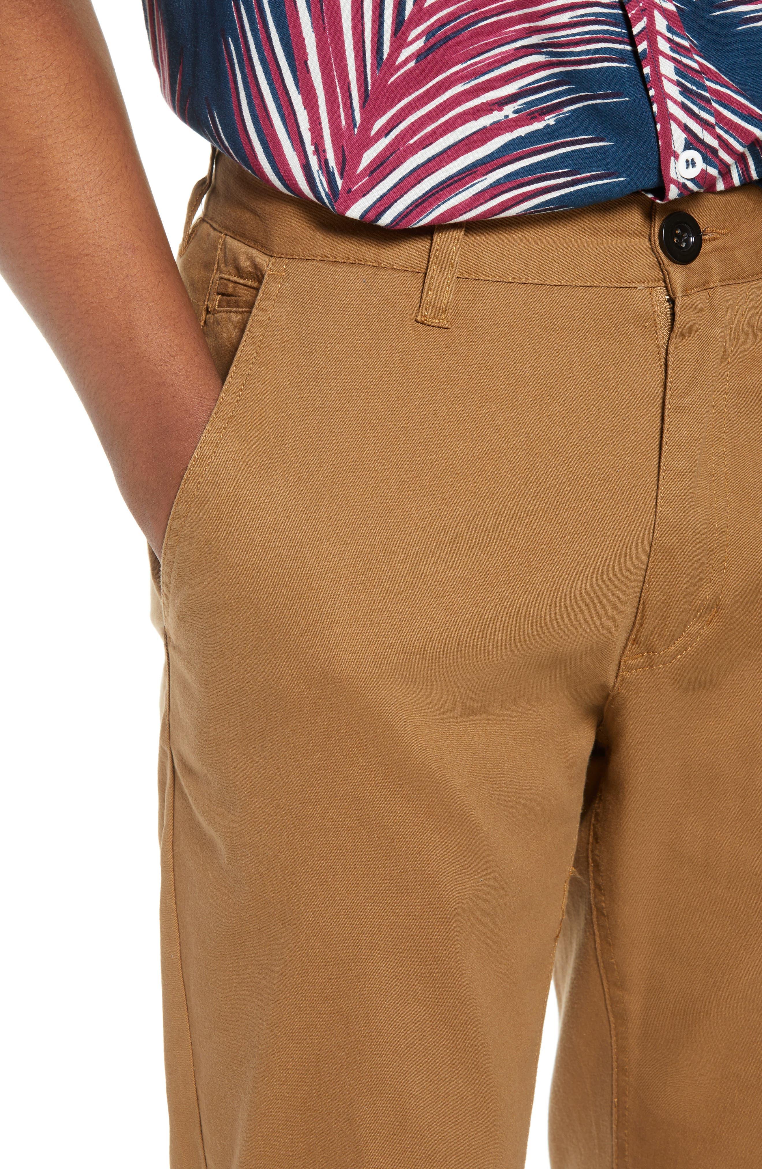 Crossroad Slim Fit Pants,                             Alternate thumbnail 4, color,                             Khaki