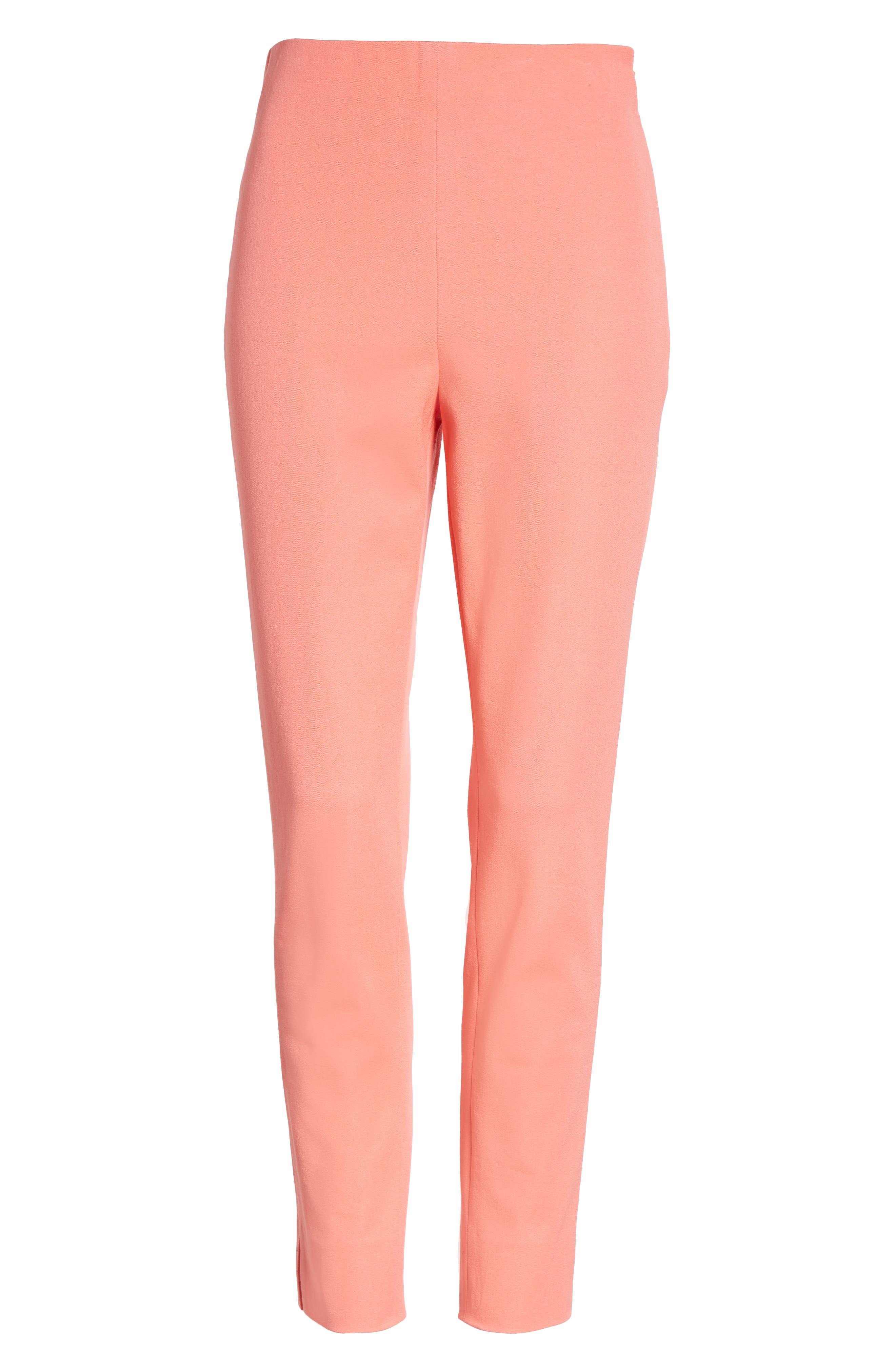 Skinny Stretch Pants,                             Alternate thumbnail 7, color,                             Coral Sugar