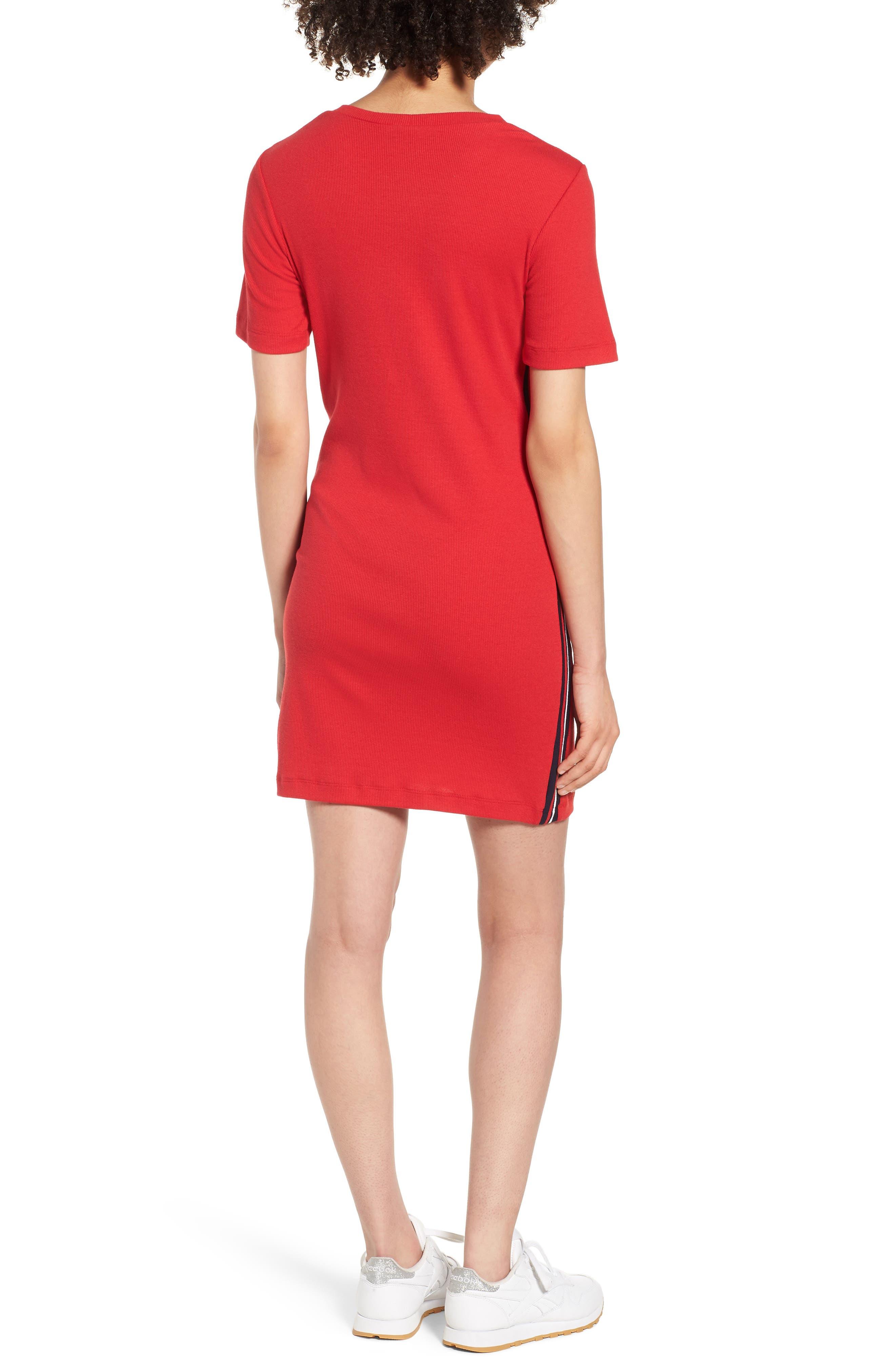 Cutout Dress,                             Alternate thumbnail 2, color,                             Red