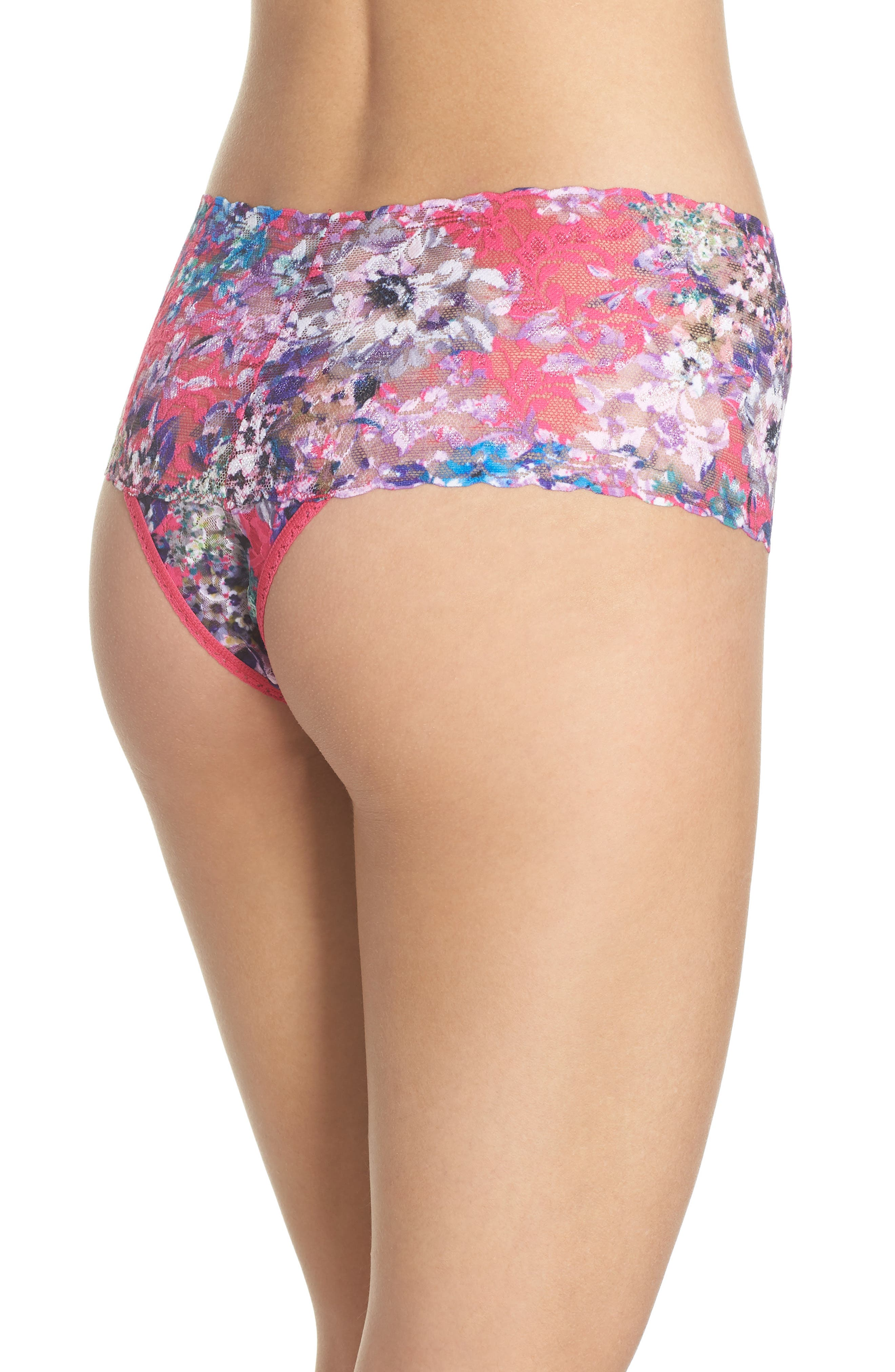 Print Retro Thong,                             Alternate thumbnail 2, color,                             Pretty In Peony