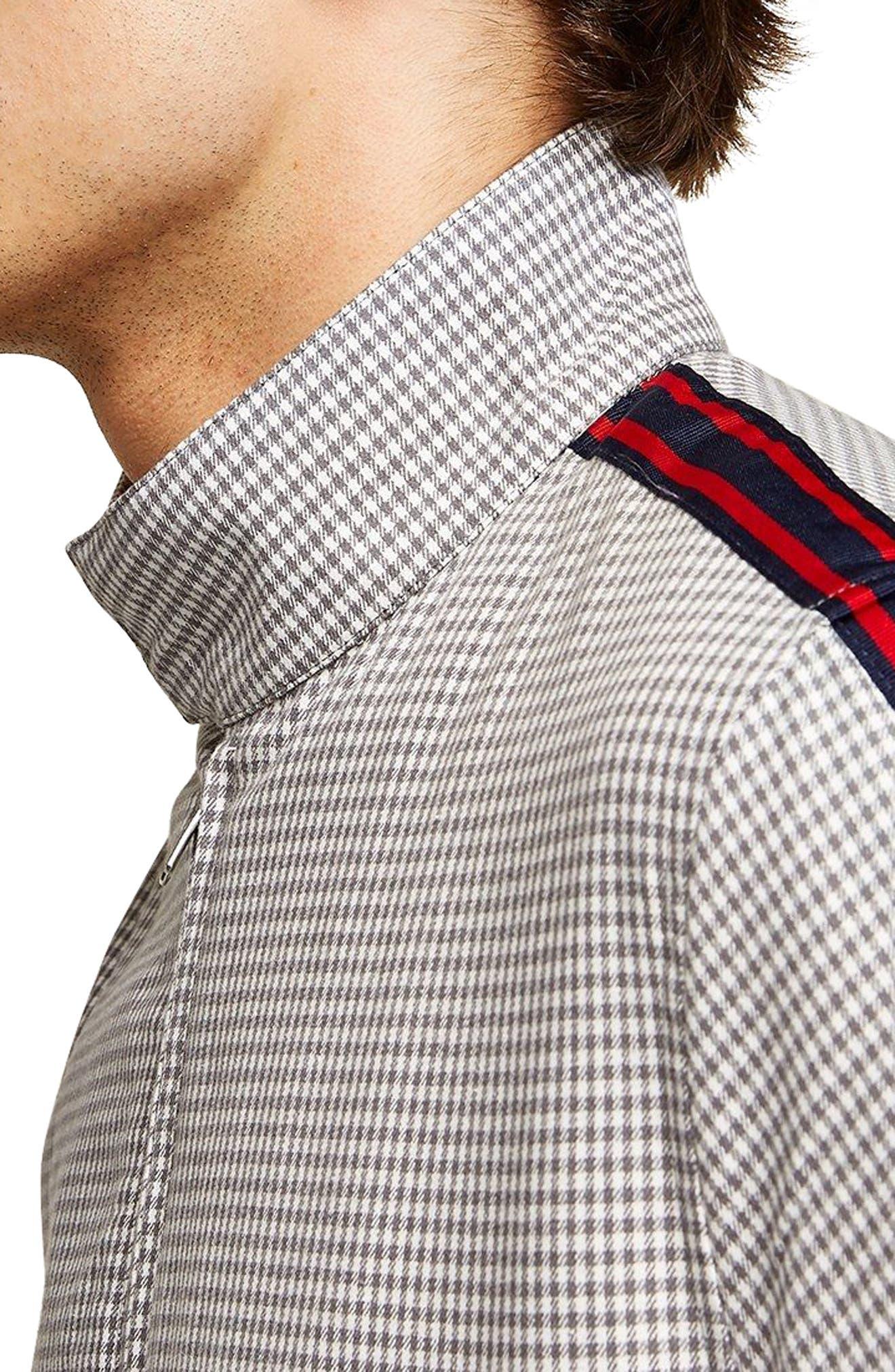 Check Harrington Jacket,                             Alternate thumbnail 4, color,                             Light Grey Multi