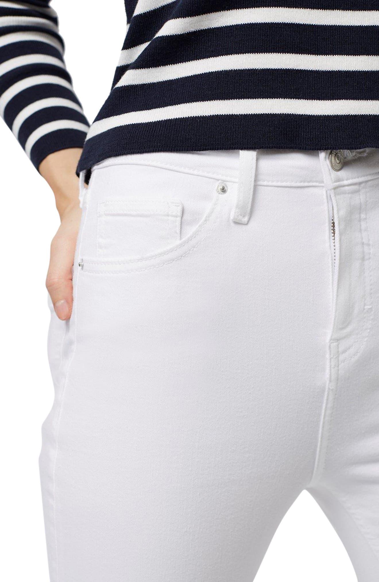 Moto Jamie Jeans,                             Alternate thumbnail 4, color,                             White